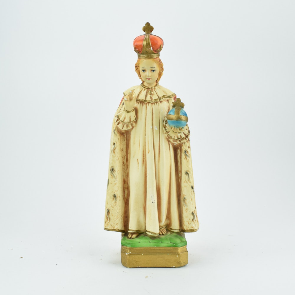 """M.T.A. Sculpture in the Style of """"Infant Jesus of Prague"""""""