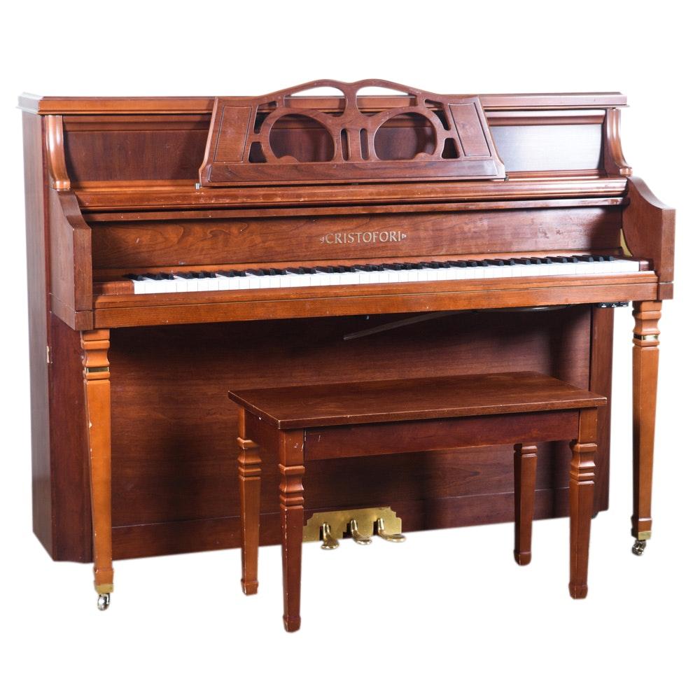 Cristofori Studio Upright Piano with Bench