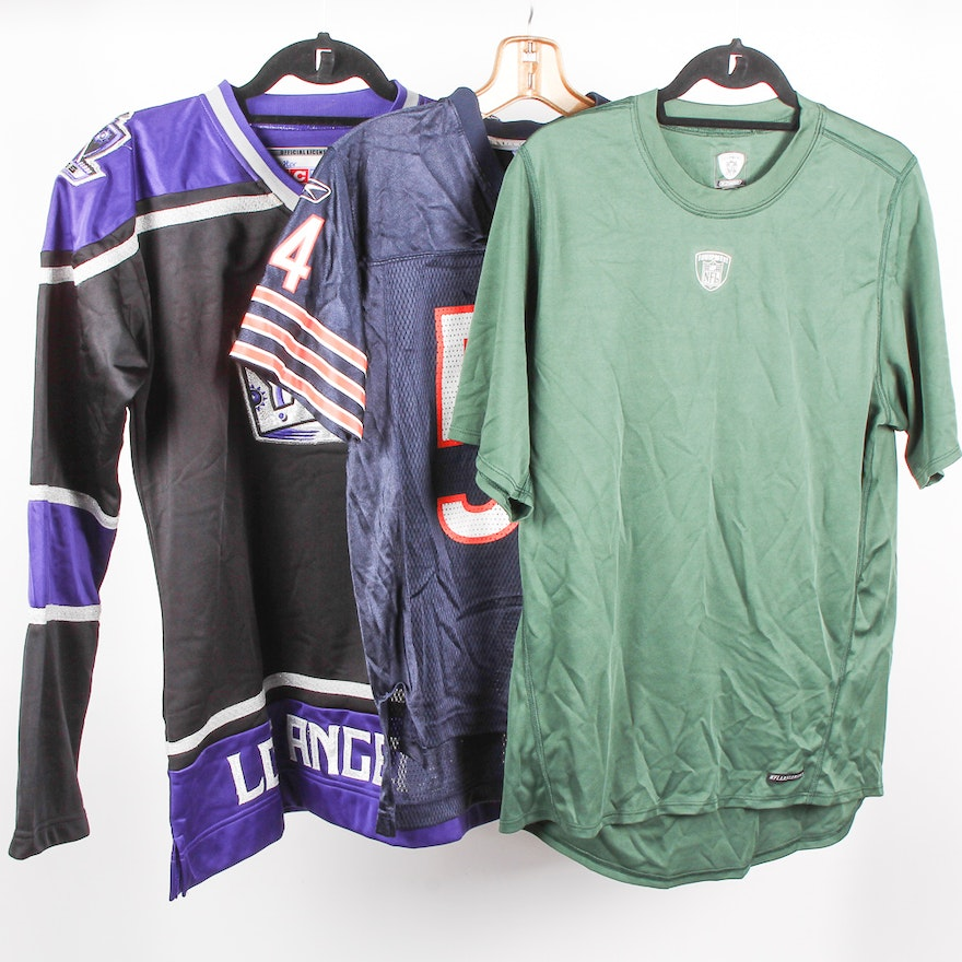 half off f166c cbe19 Chicago Bears Urlacher Jersey, New York Jets Shirt and Womens L.A. Kings  Jersey