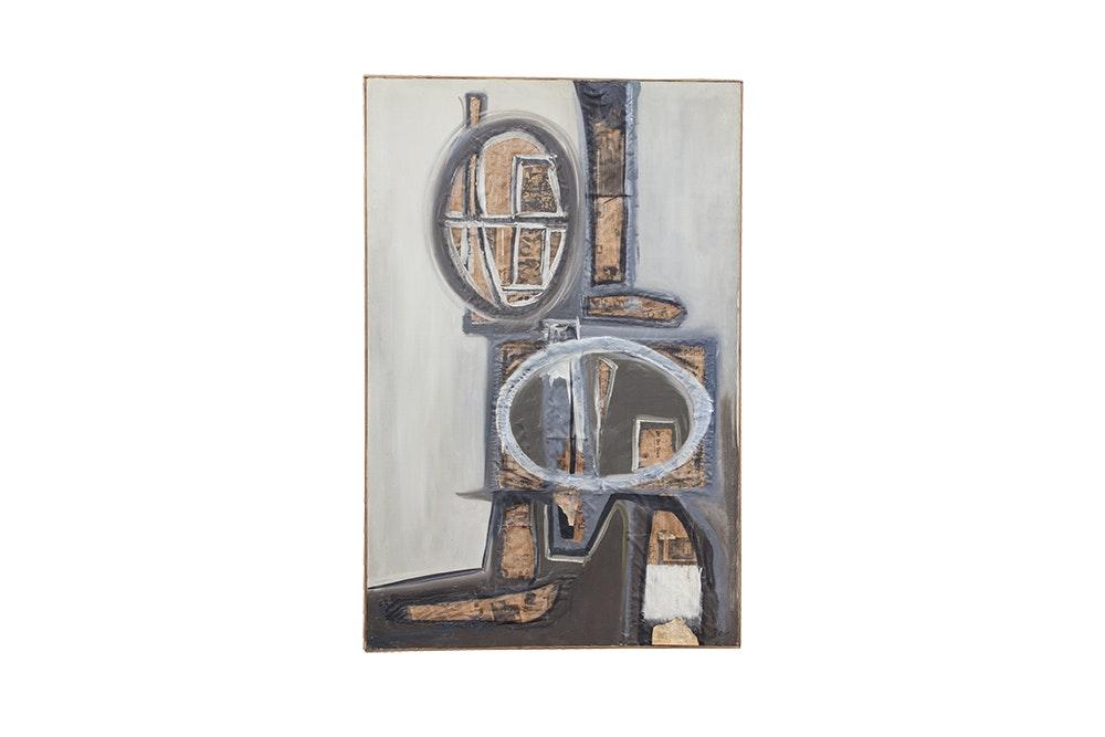 Bette Hamilton Abstract Mixed Media Painting