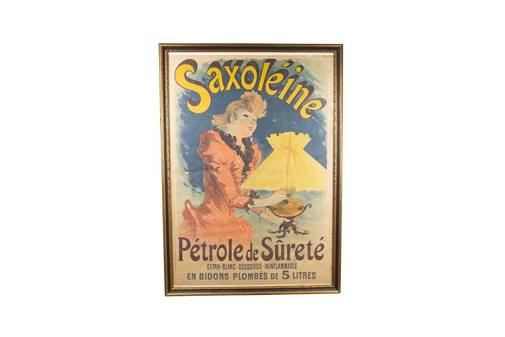Saxoléine Pétrole de Sûreté Poster in Frame
