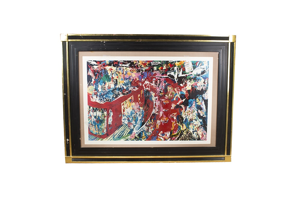 "LeRoy Neiman Seriolithograph ""Bar at 21 Club"""