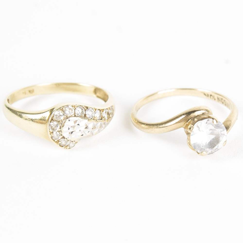 10K and 14K Yellow Gold Rings