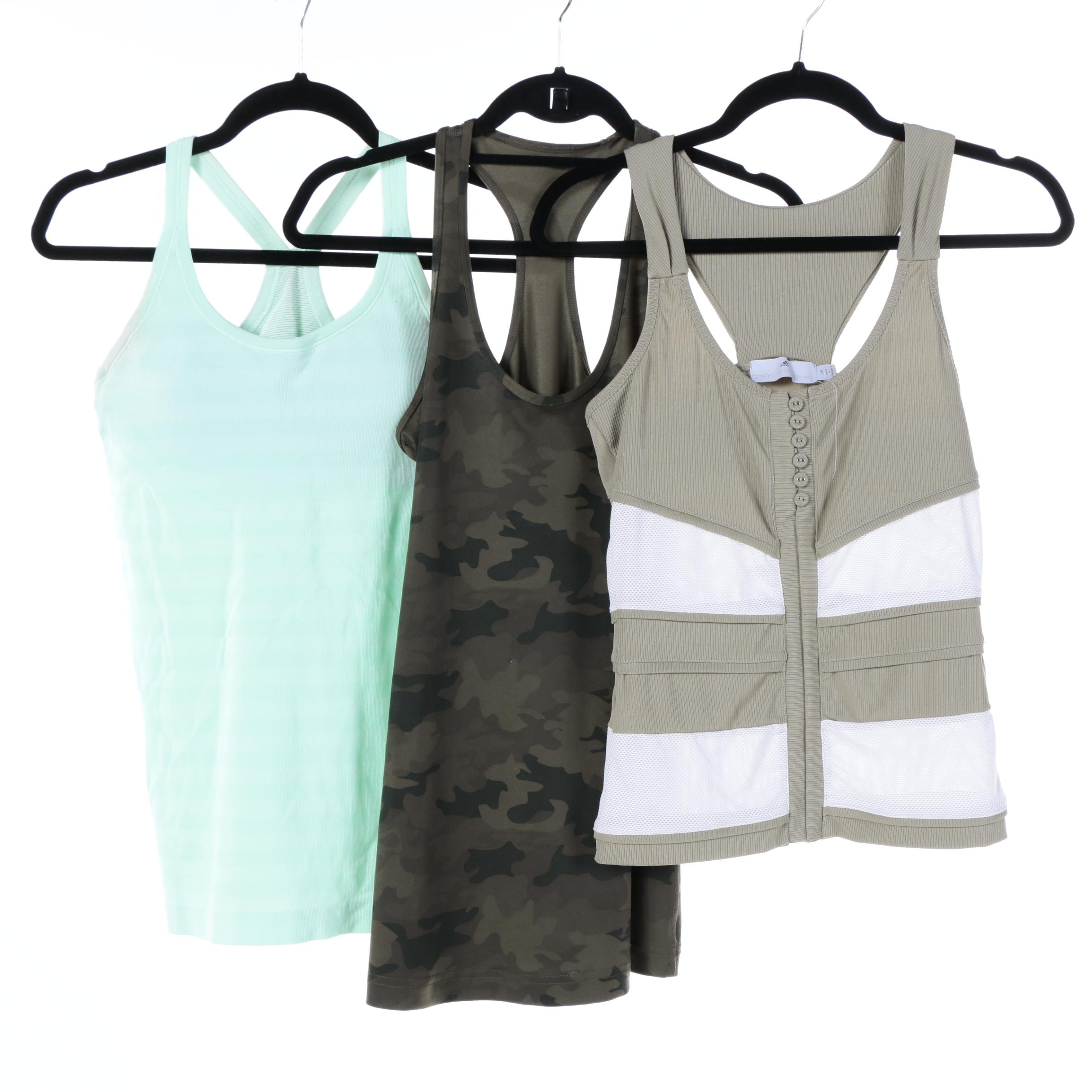Women's Stella McCartney for Adidas and Lululemon Athletic Tank Tops