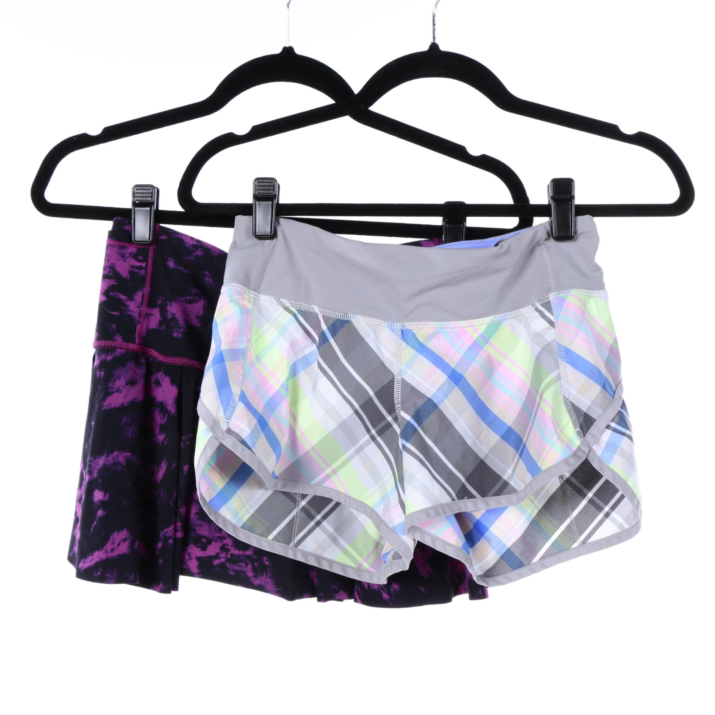 Lululemon Athletic Shorts and Skirt Including Plaid