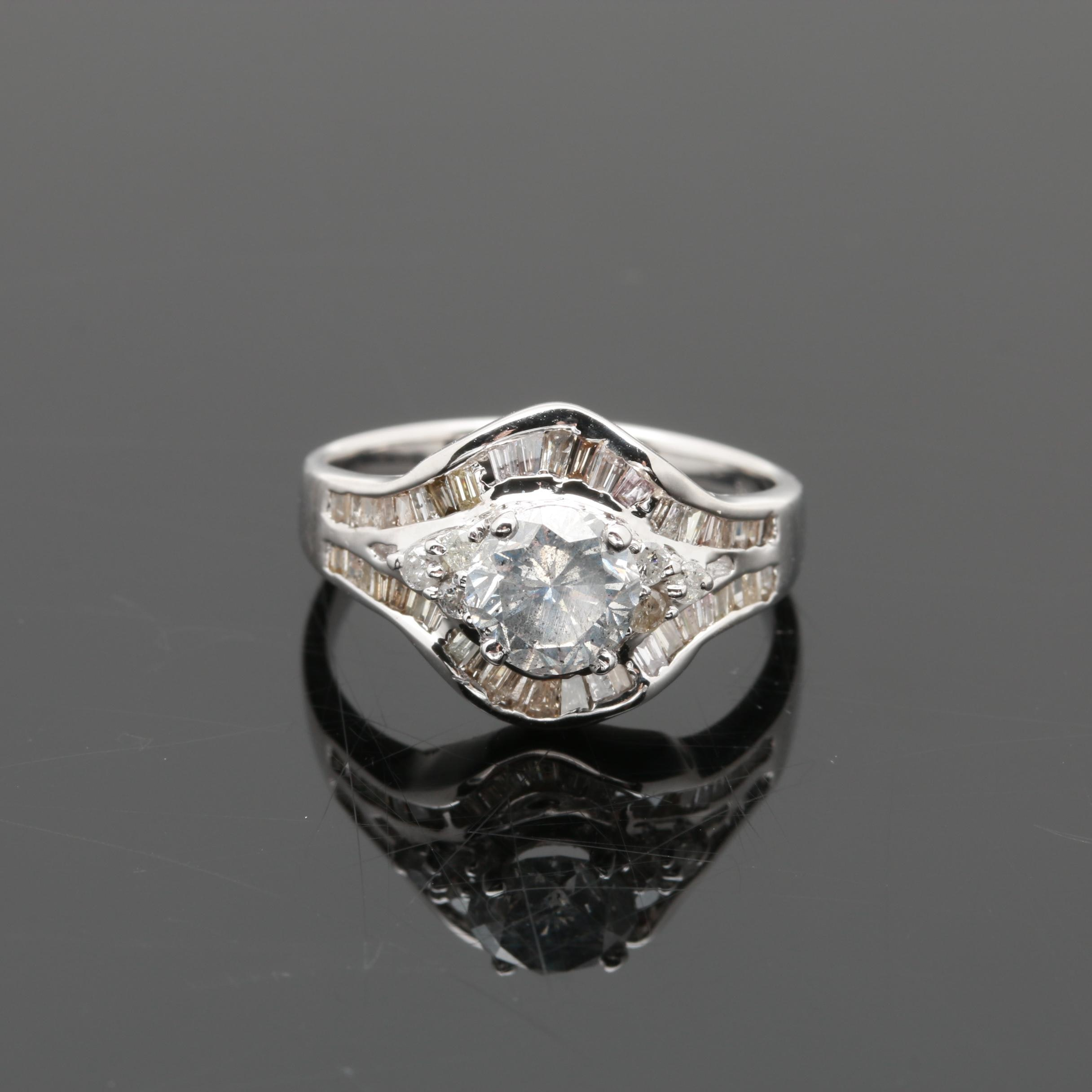 18K White Gold 1.62 CTW Diamond Ring