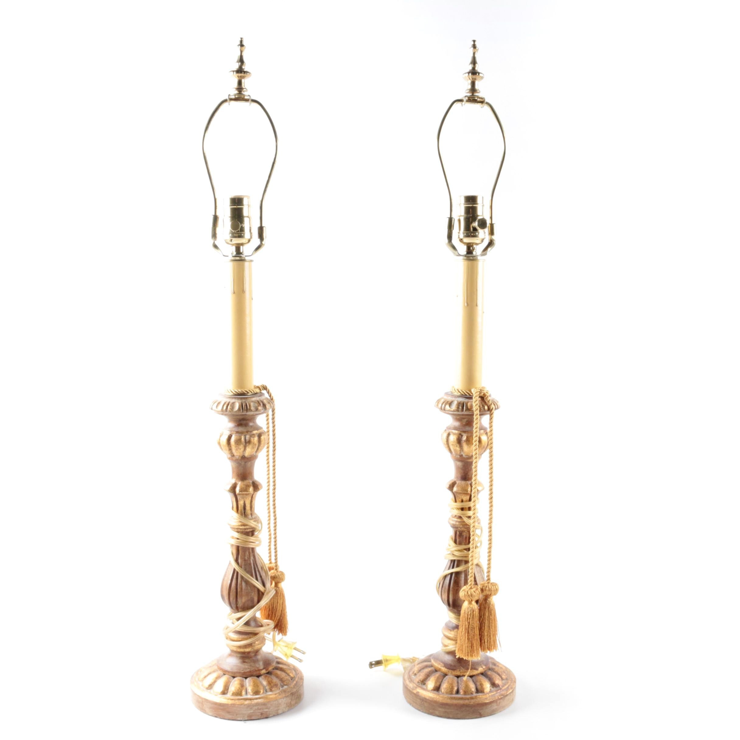 Pair of Decorative Candlestick Lamps