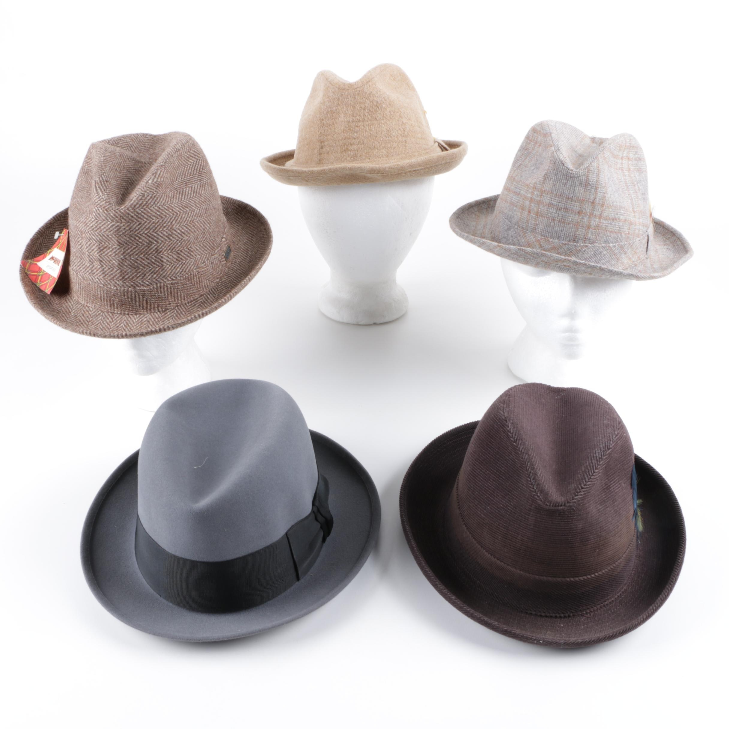 Fedora Hats Collection Including Stetson and Resistol