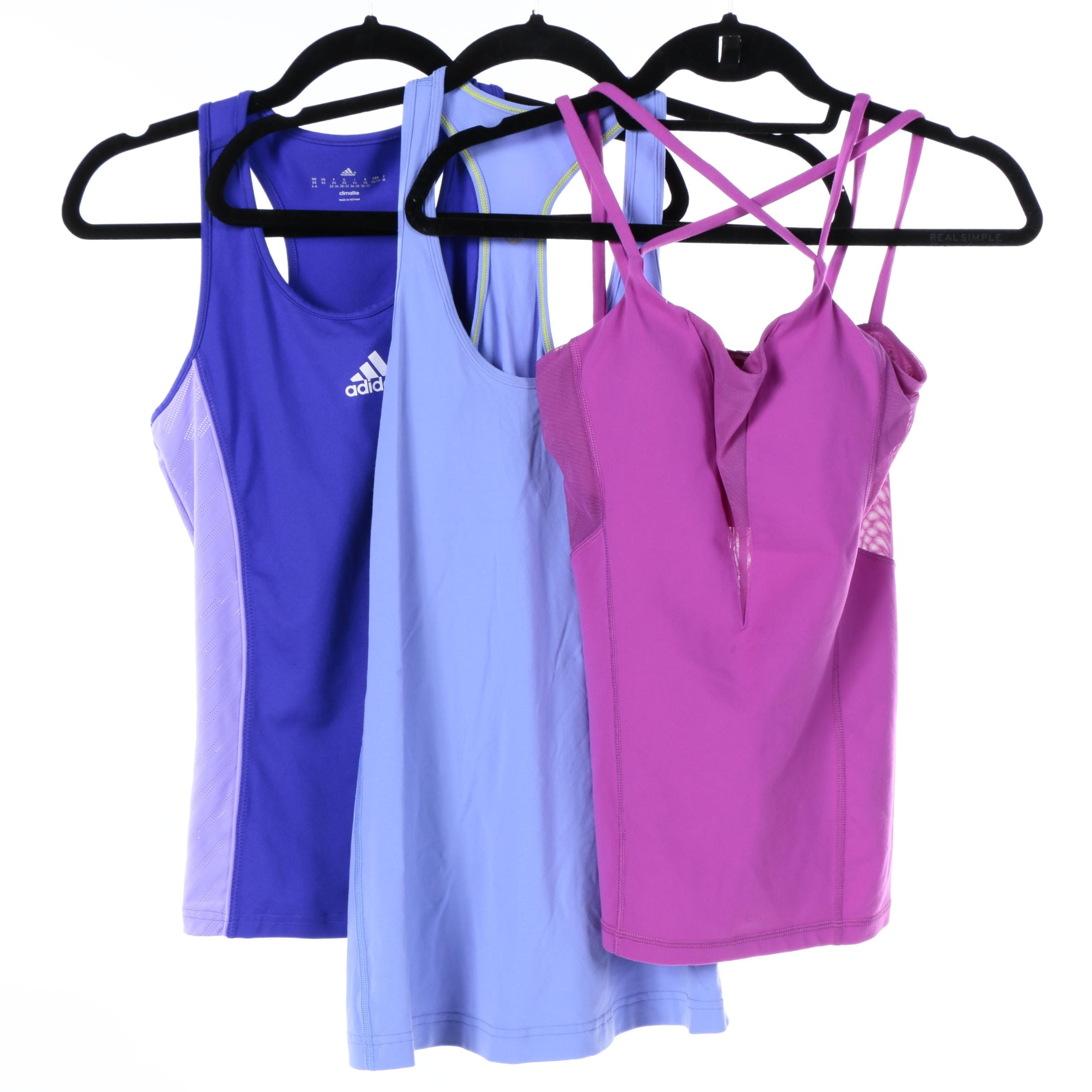 Women's Lululemon and Adidas Athletic Tank Tops