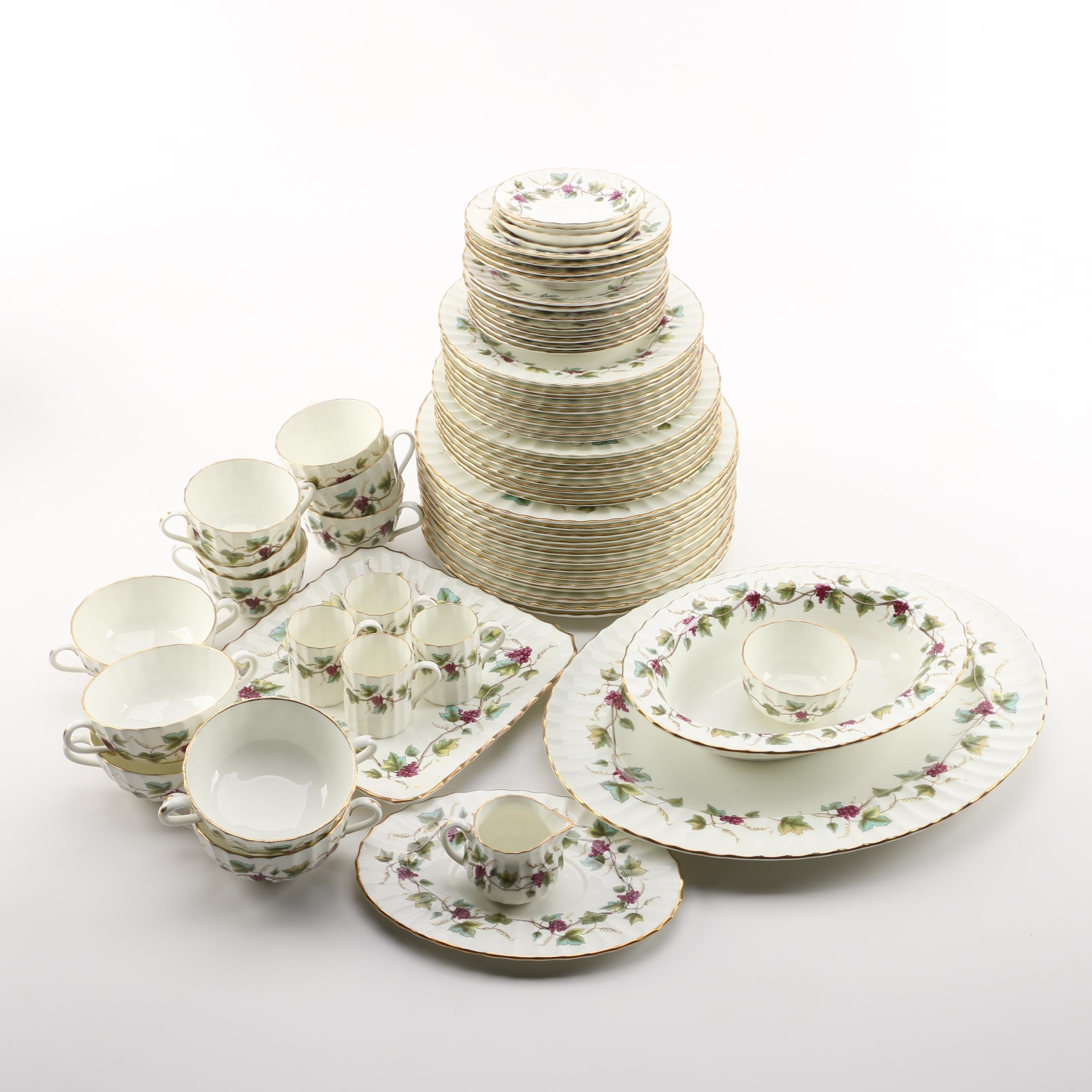 "Royal Worcester ""Bacchanal"" Dinnerware and Serving Dishes"