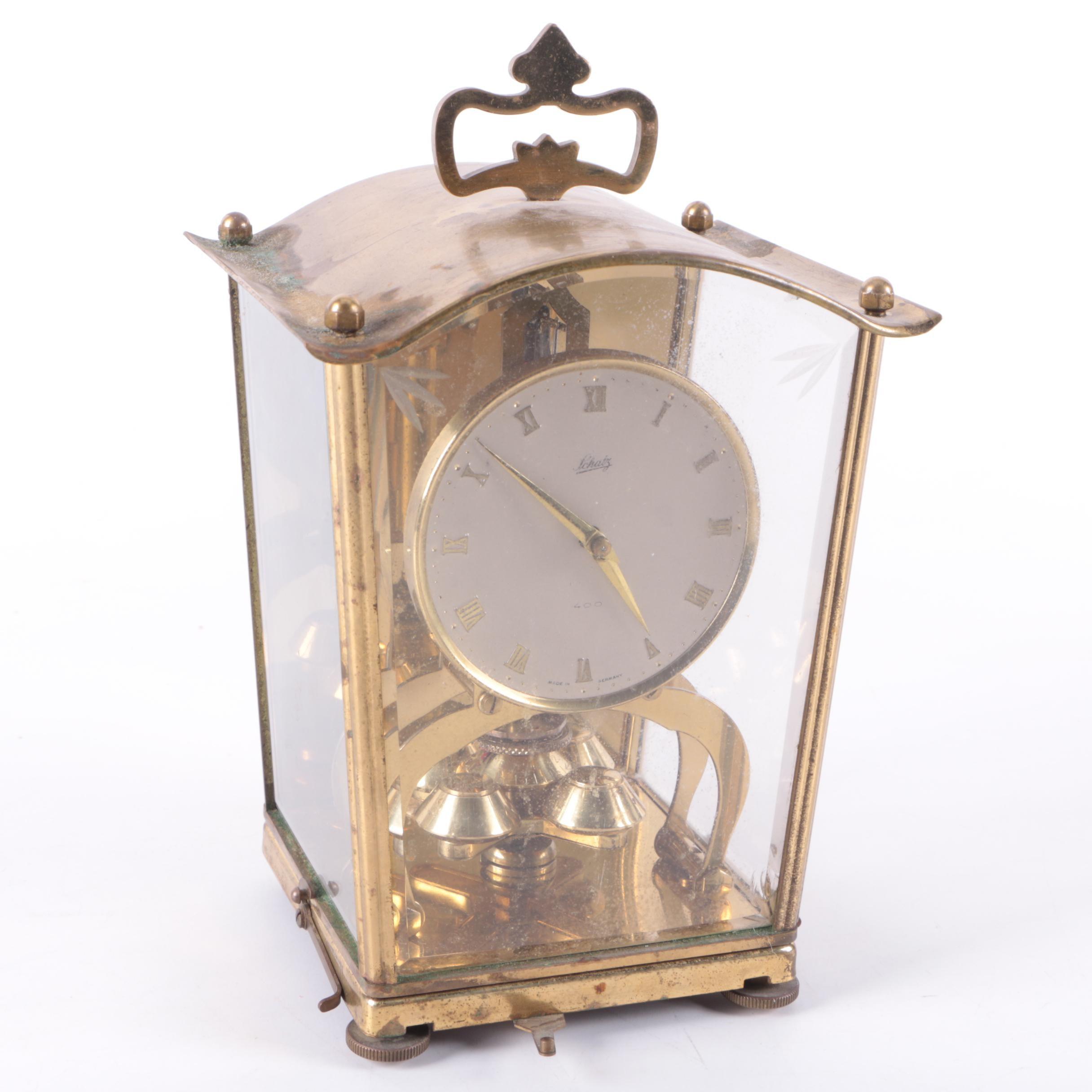 Vintage Schatz Carriage Style Anniversary  Clock