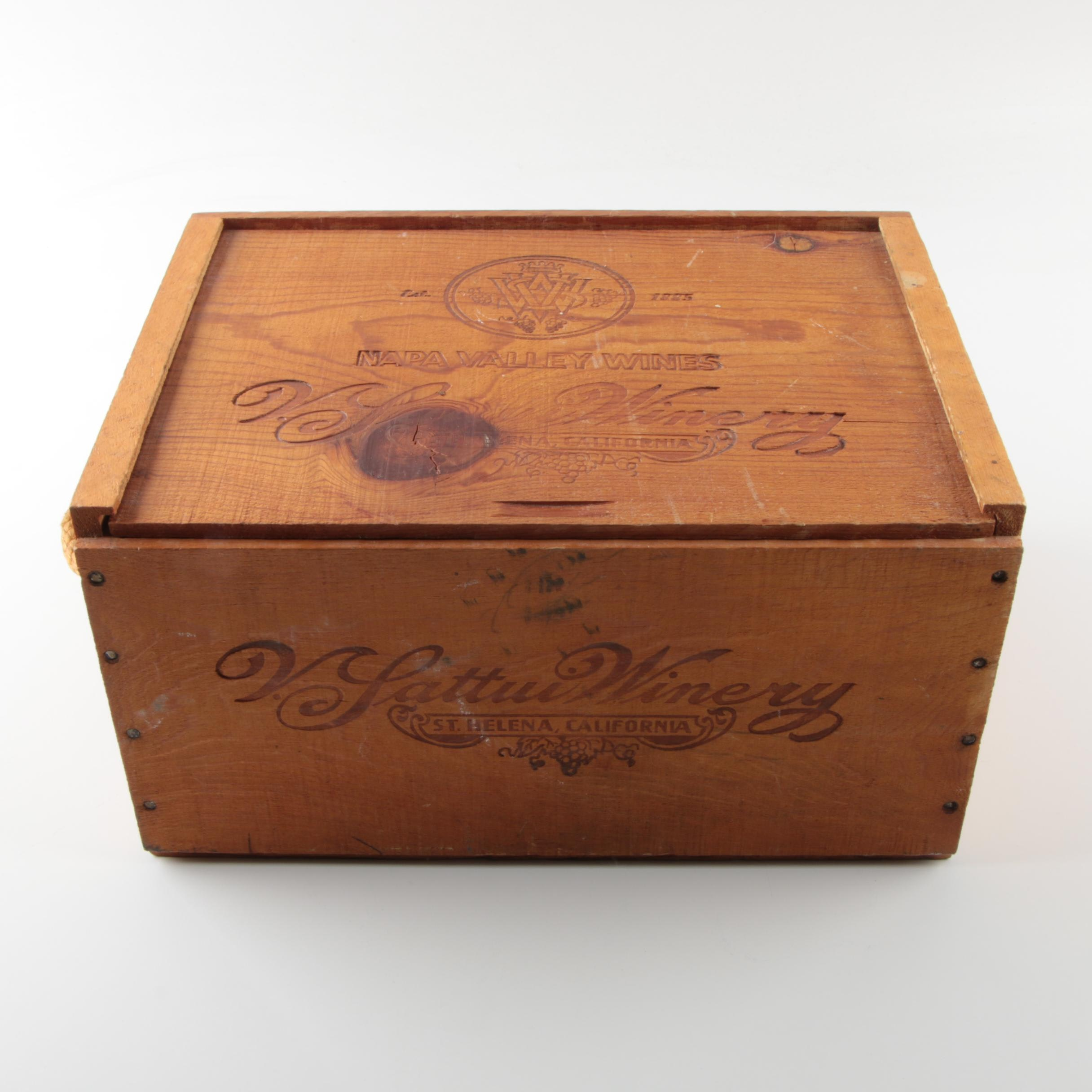 Vintage Napa Valley Winery Box