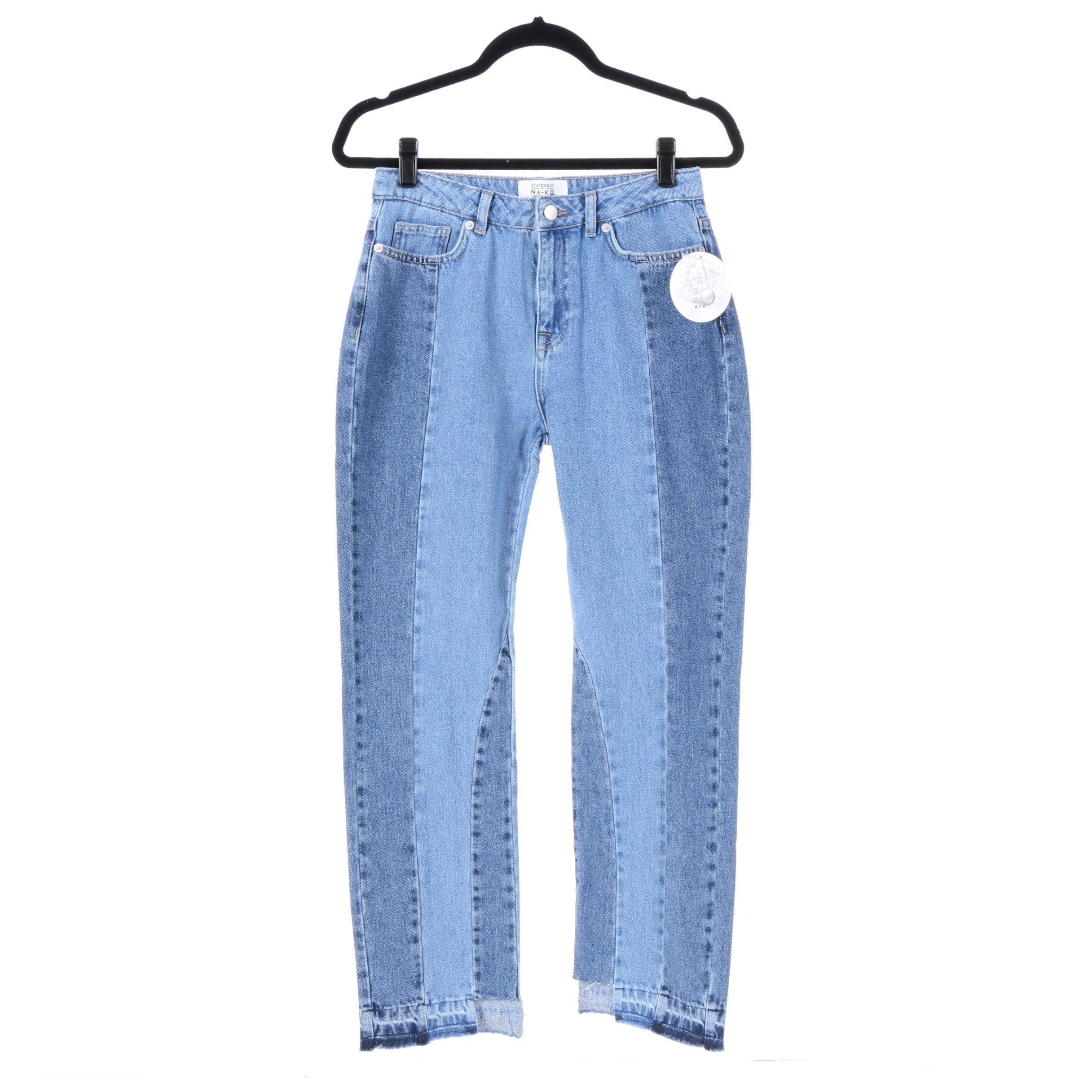 Statement by NA-KD Influencers Patchwork Jeans