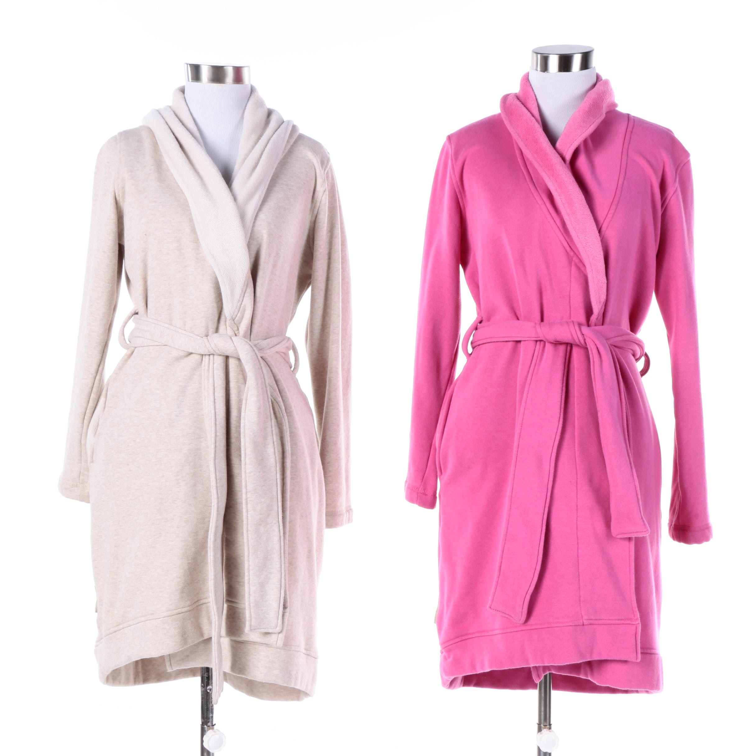 Women's Ugg Australia Beige and Pink Robes