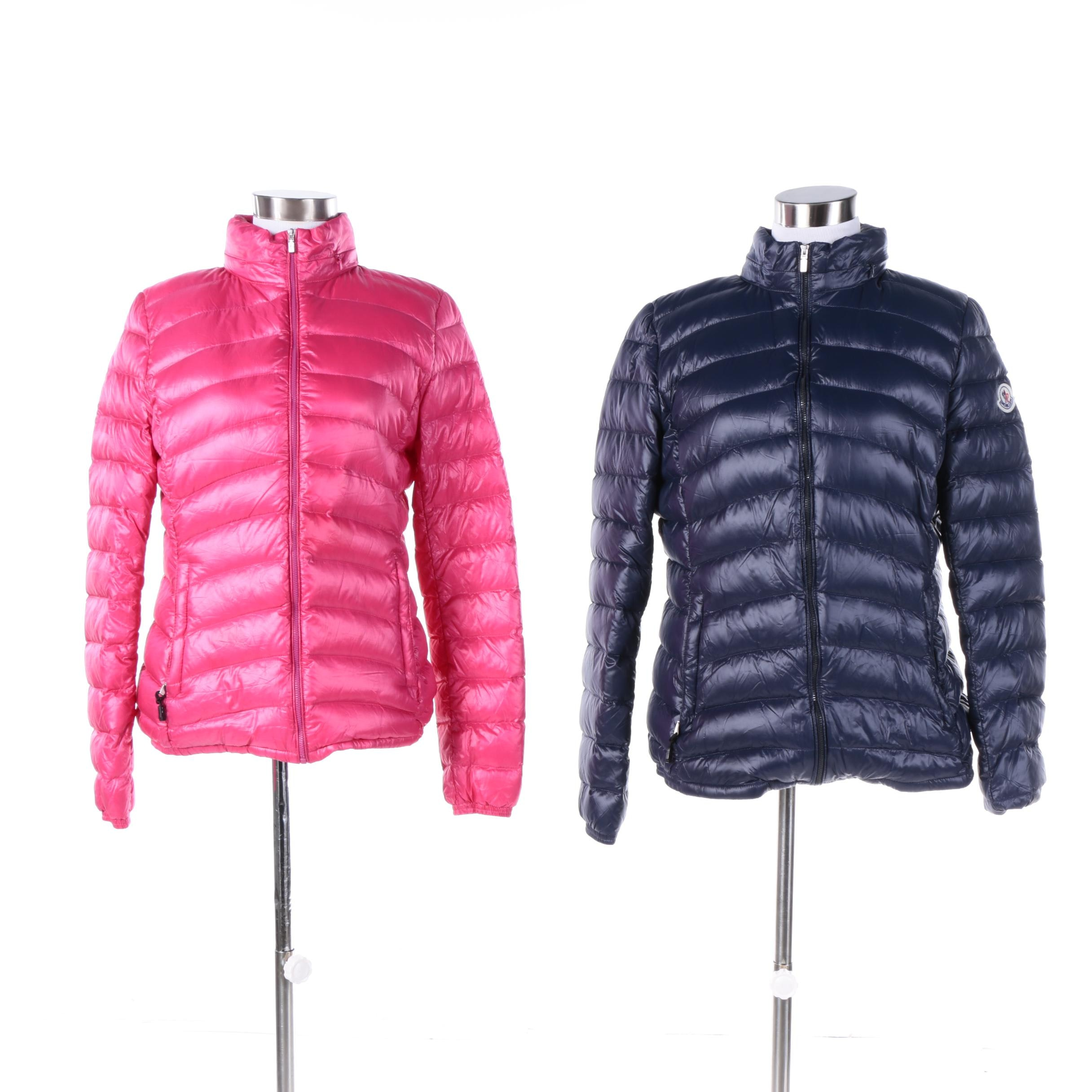 Women's Moncler Pink and Navy Puffer Jackets