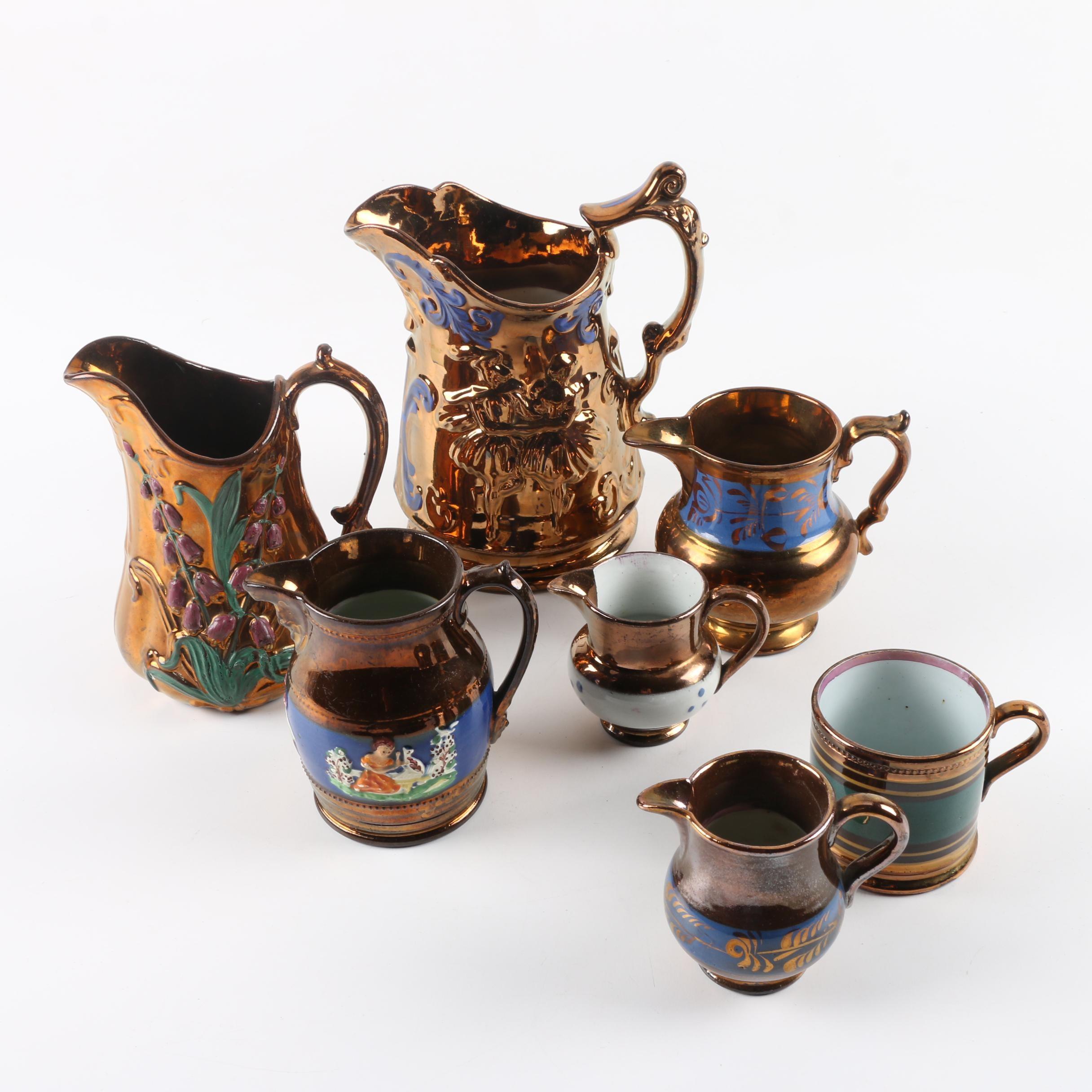 Antique English Copper Lusterware