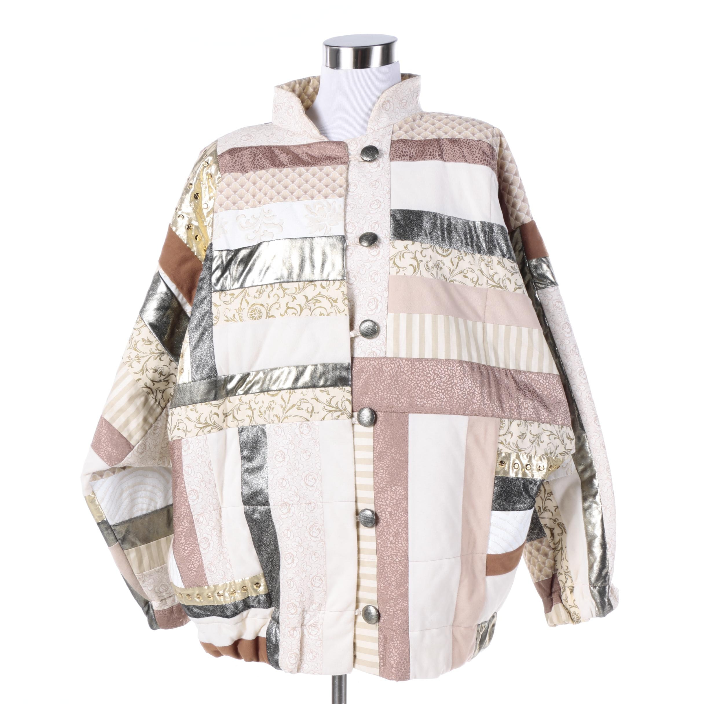 Women's Mixed Patchwork Quilt Jacket