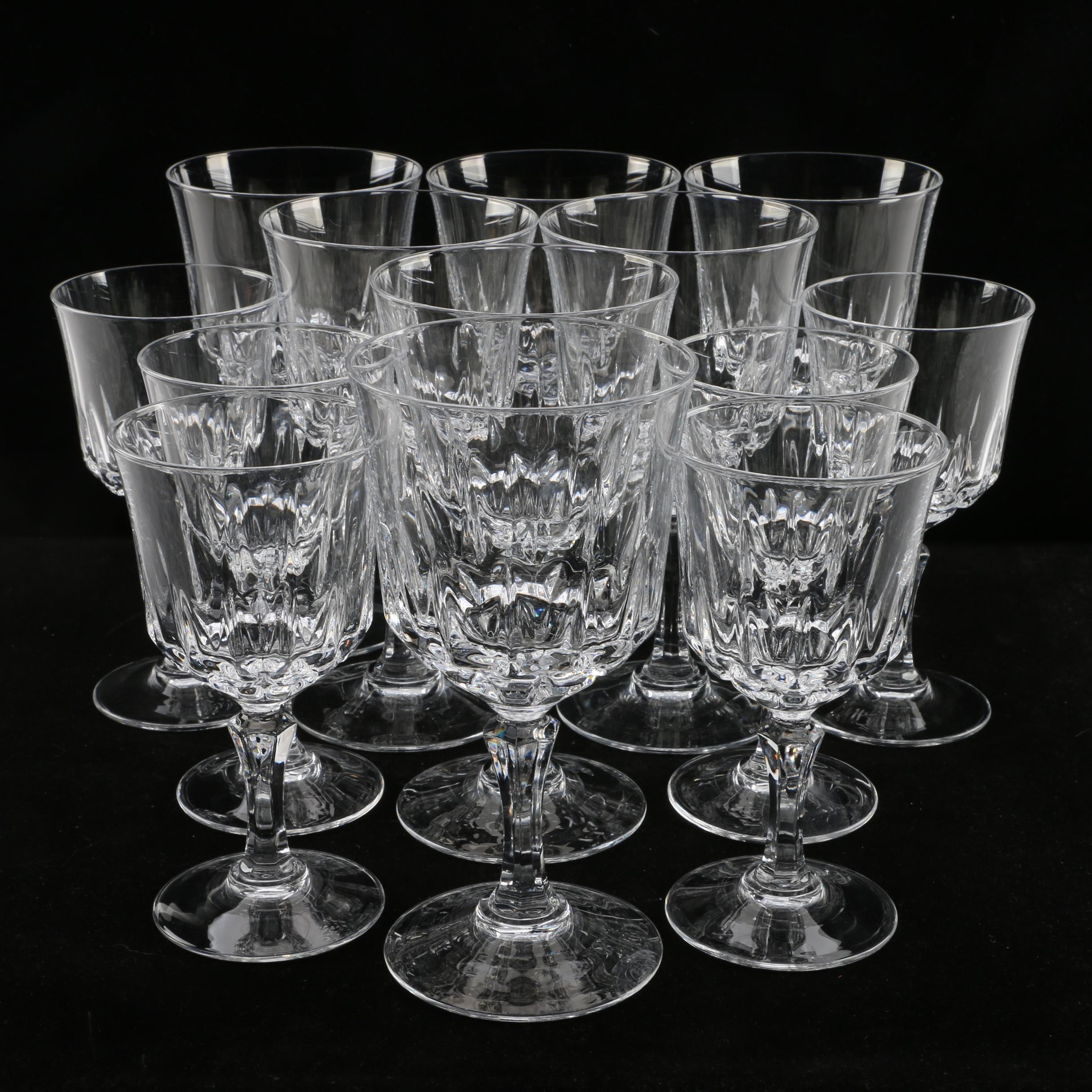 "Cristal d'Arques ""St. Germain"" Crystal Stemware"