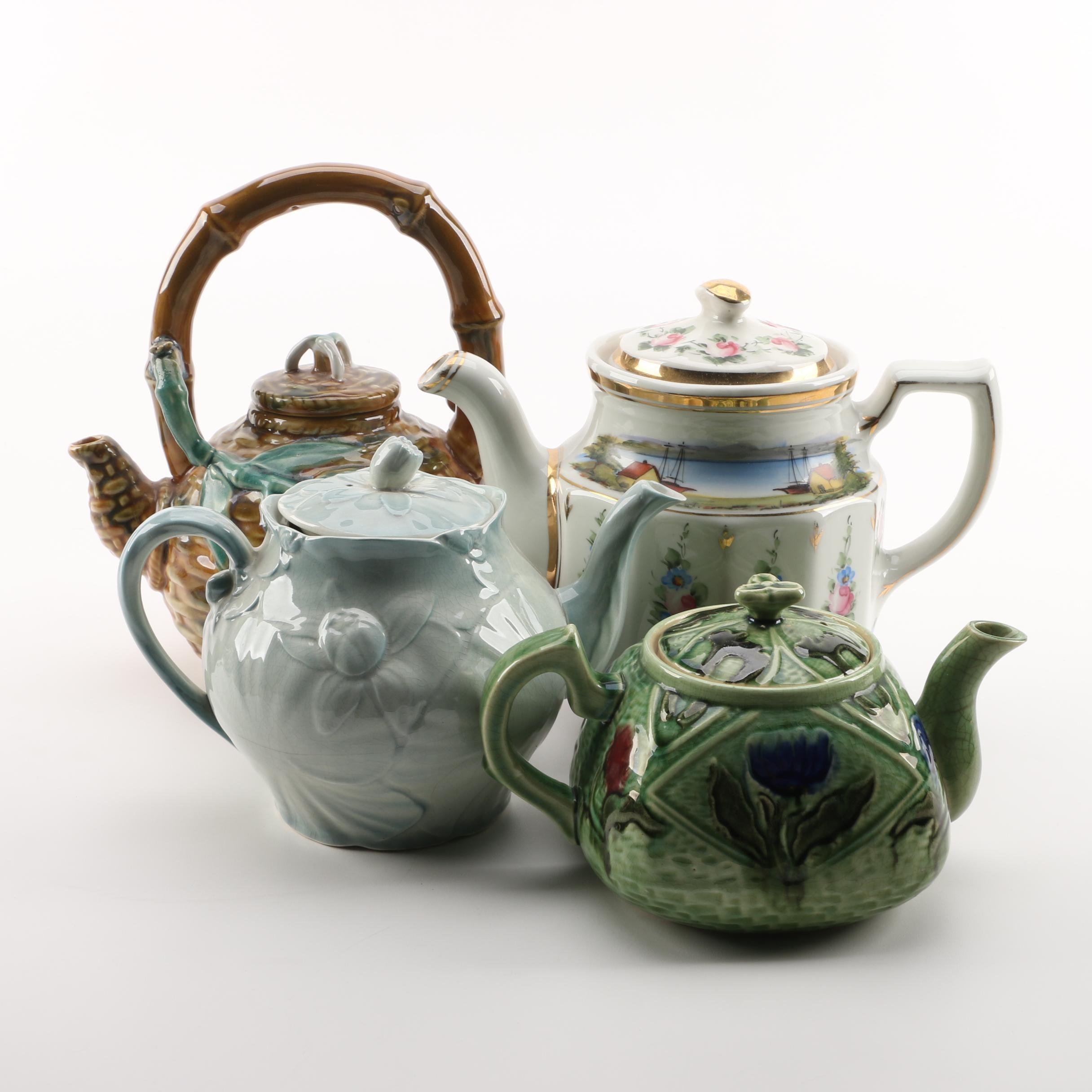 Ceramic Teapots Including Vintage Shenango China