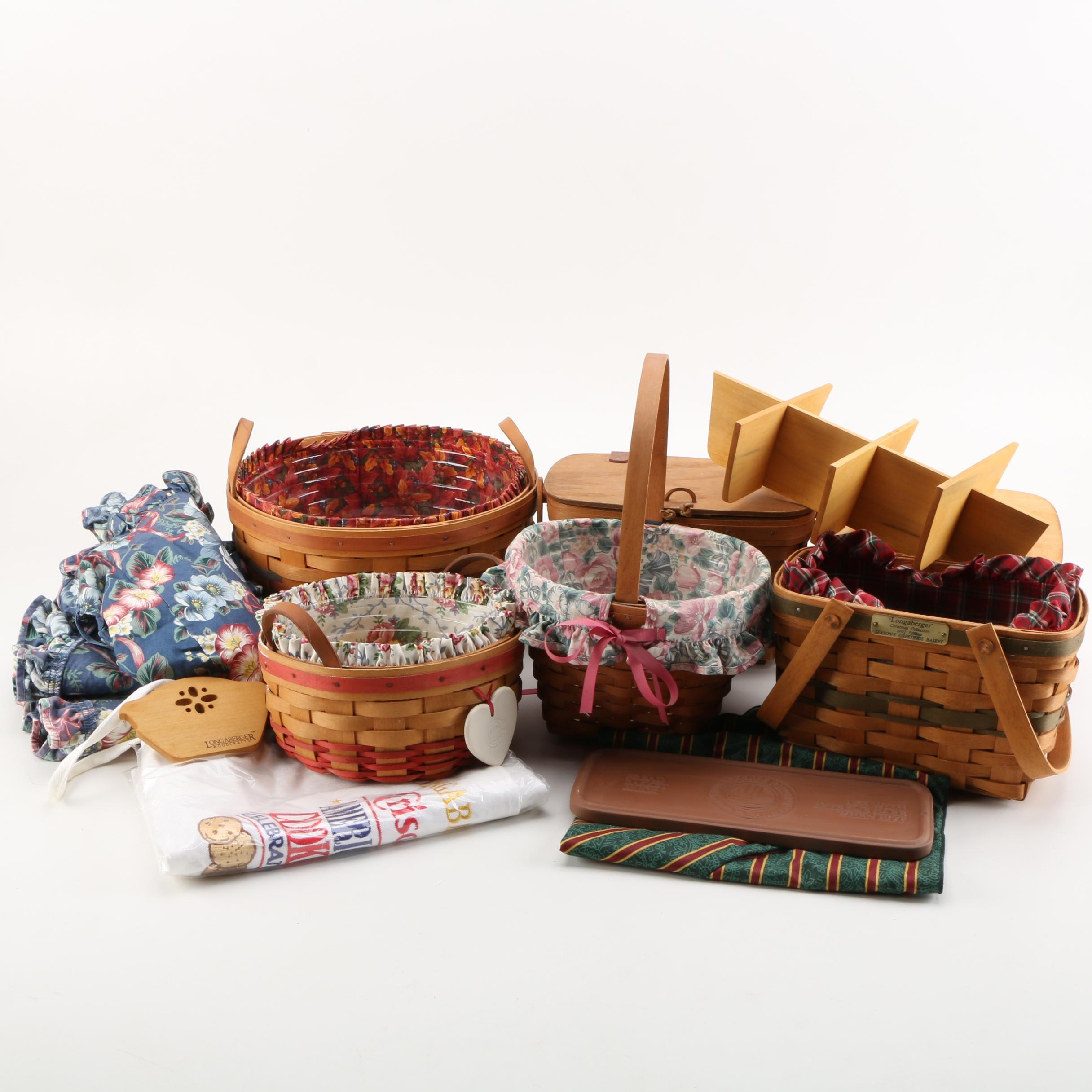 Assorted Longaberger Handwoven Baskets and More