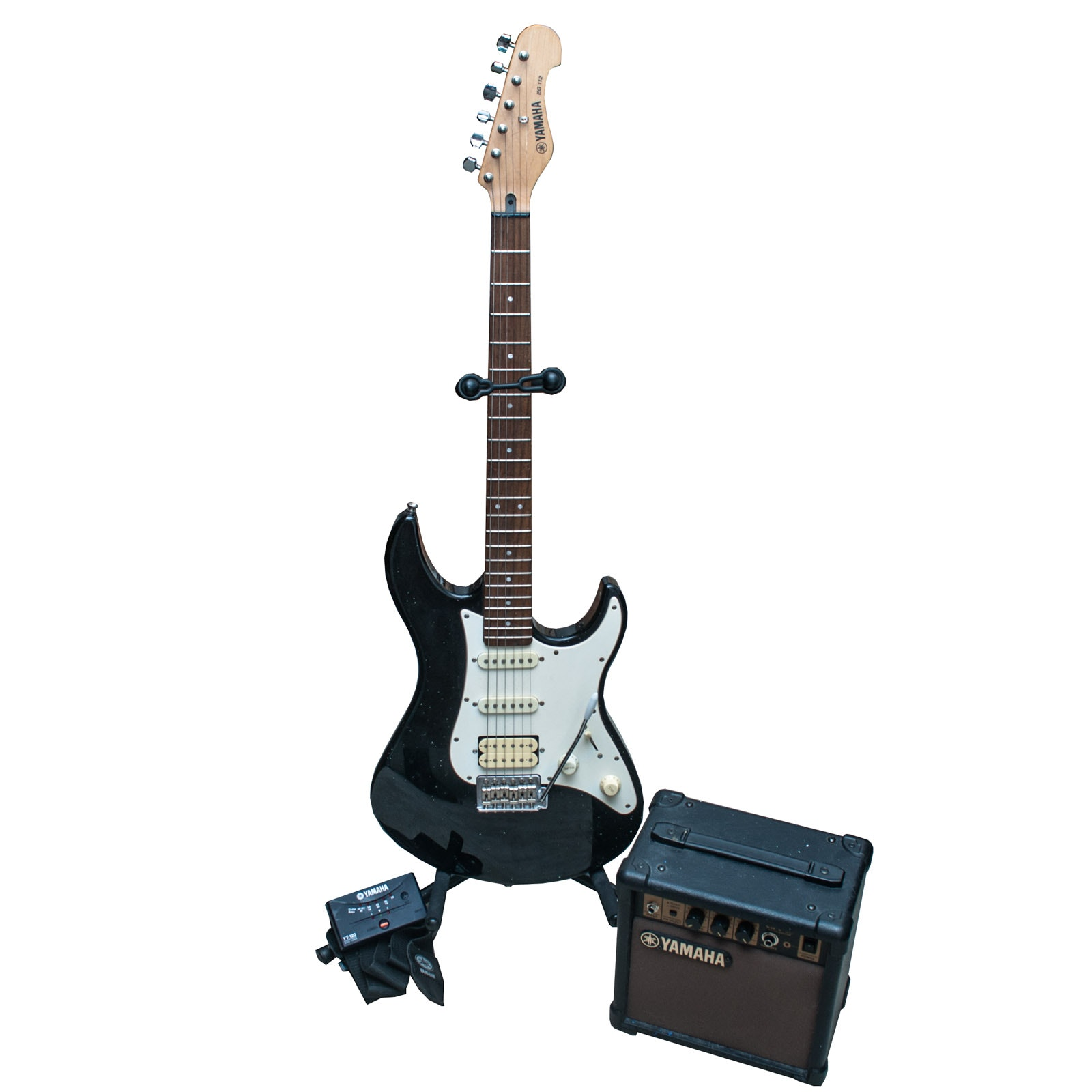 Yamaha EG 112 Electric Guitar with Amp and Stand