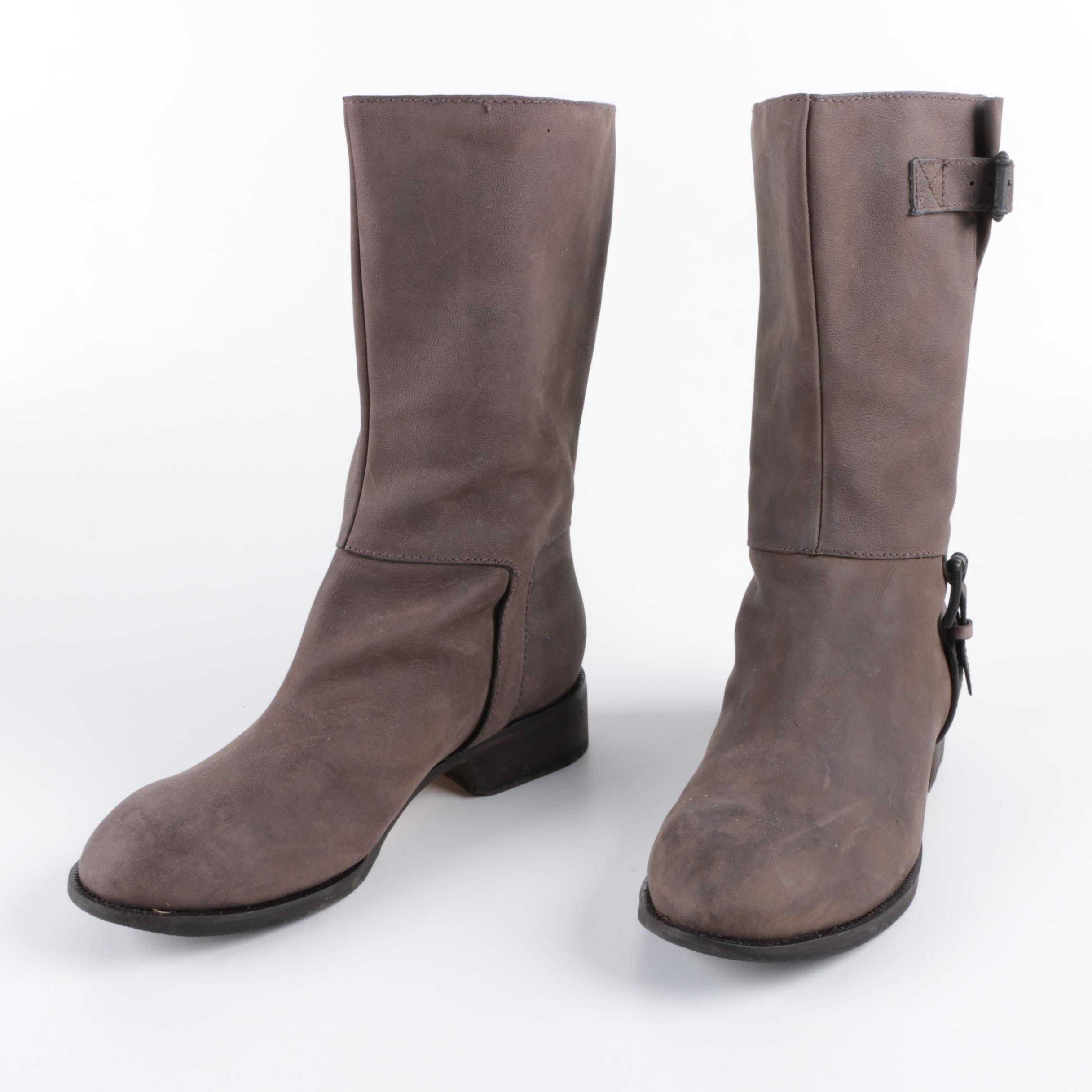 Cole Haan Leora Brown Boots with Buckle Straps