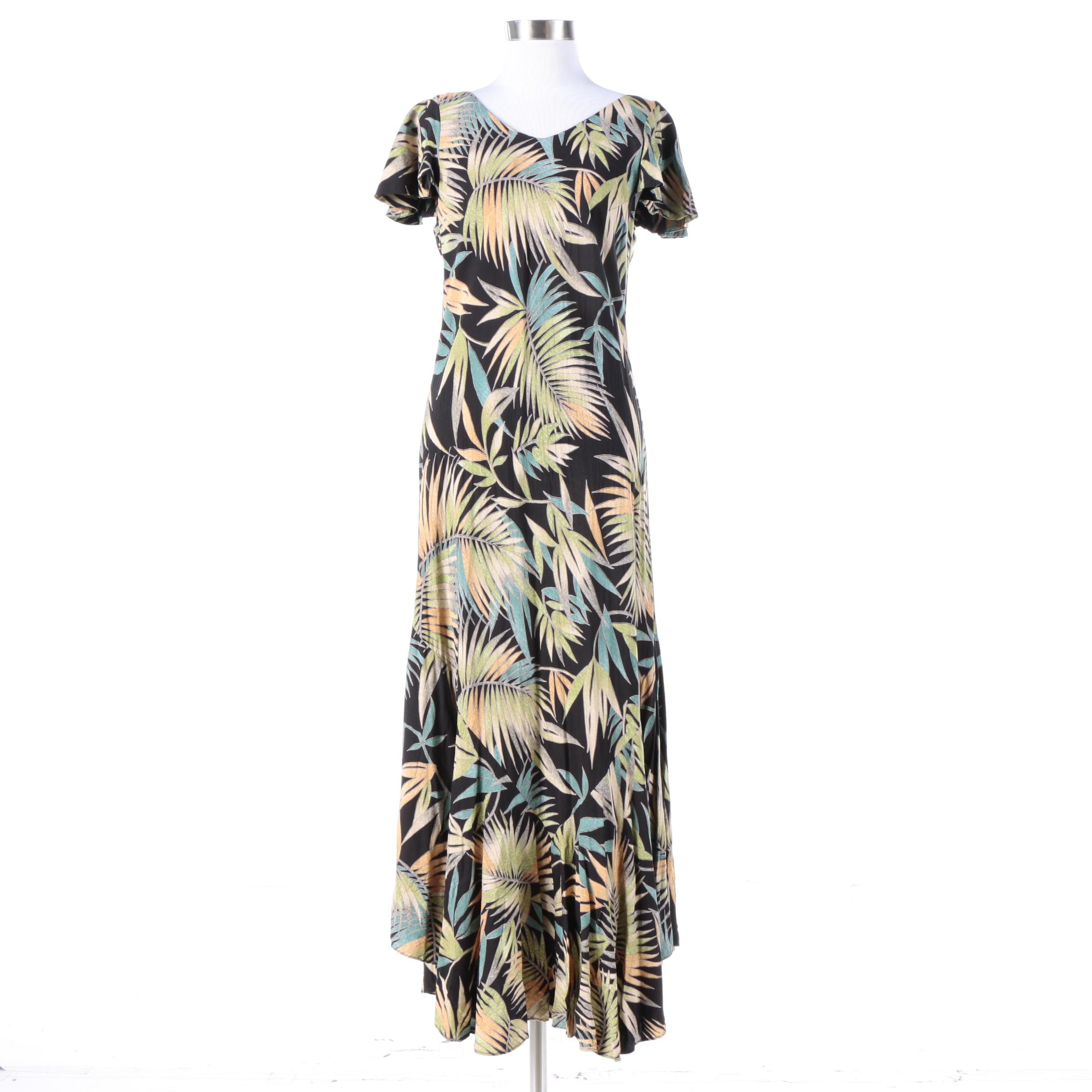 Tori Richard of Honolulu Fern Print Short Sleeve Dress