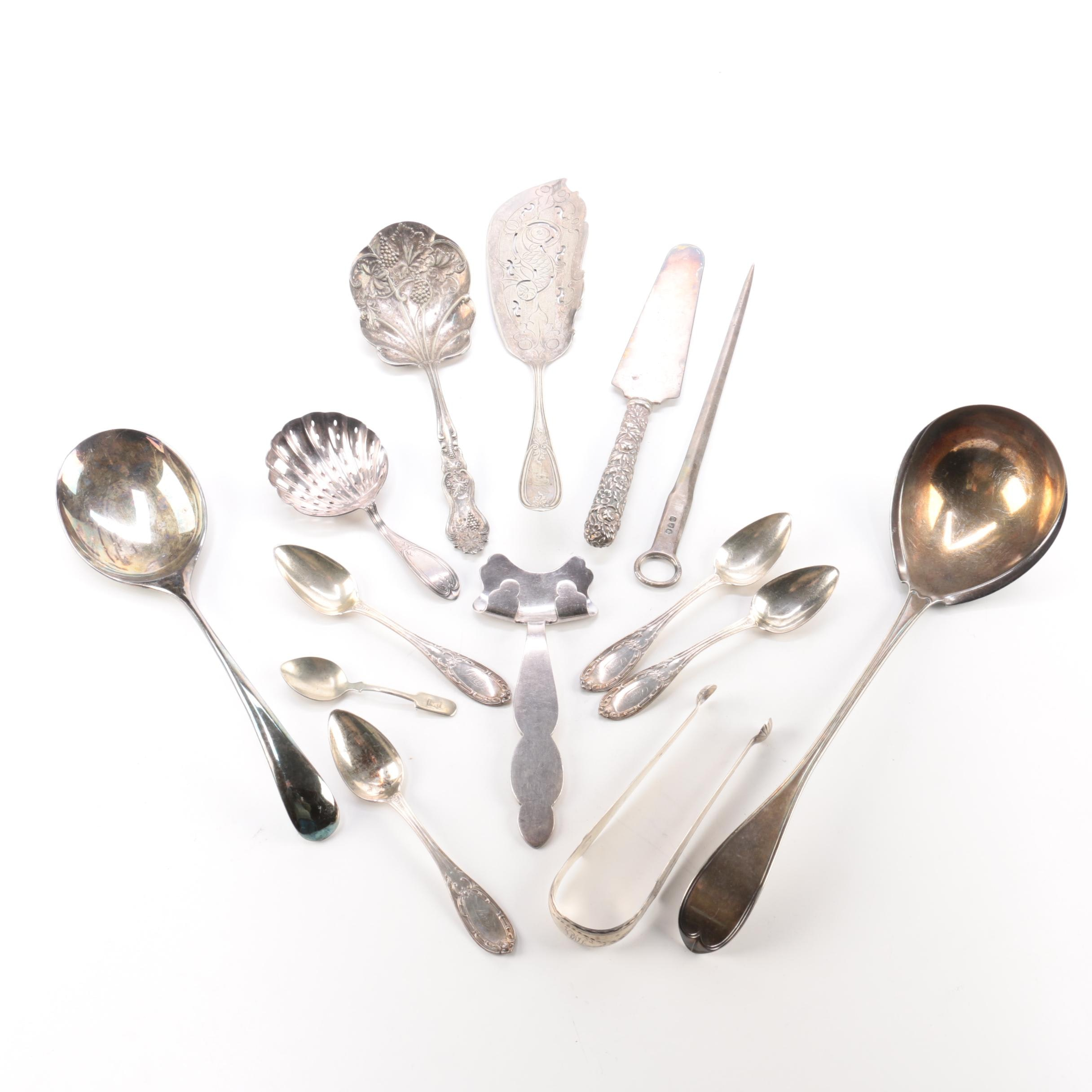 Silver Plate Flatware and Serving Utensils Featuring Gorham