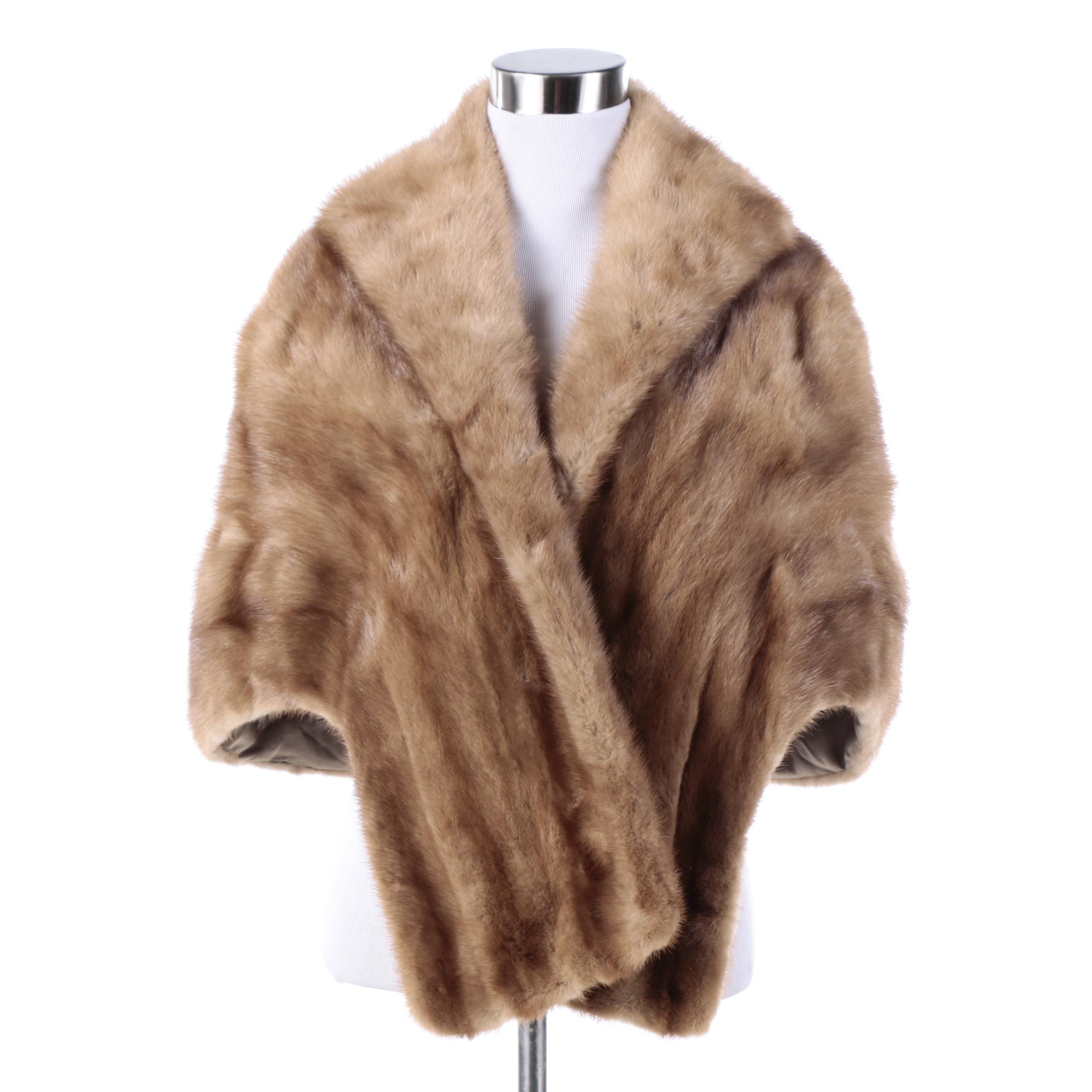 Vintage H.P. Wasson & Co. Mink Fur Stole