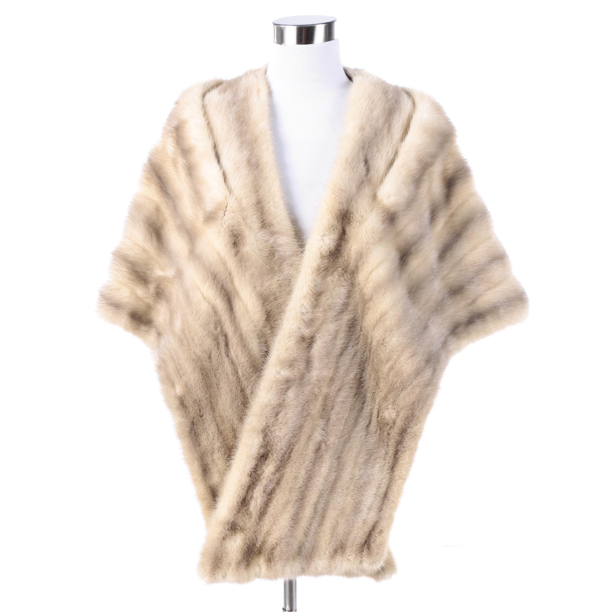 Vintage Javarek Furs Mink Fur Stole