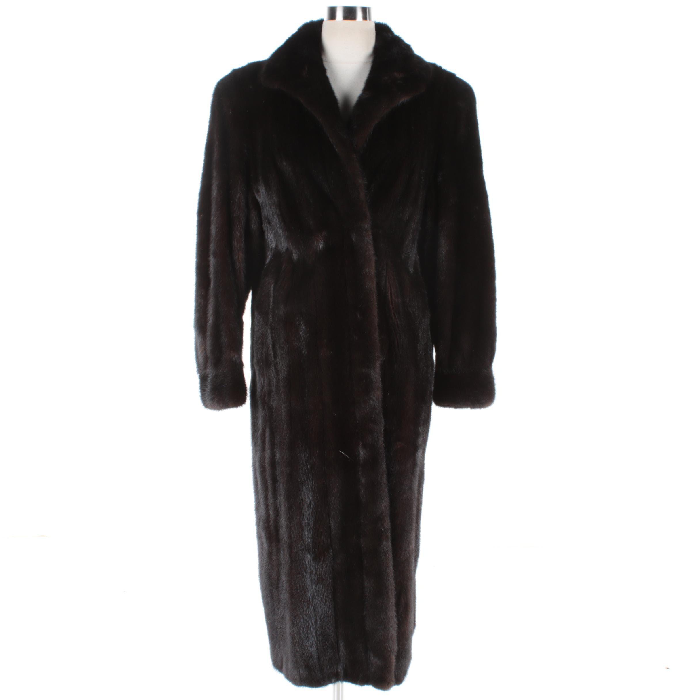 Women's Dark Brown Mink Fur Coat