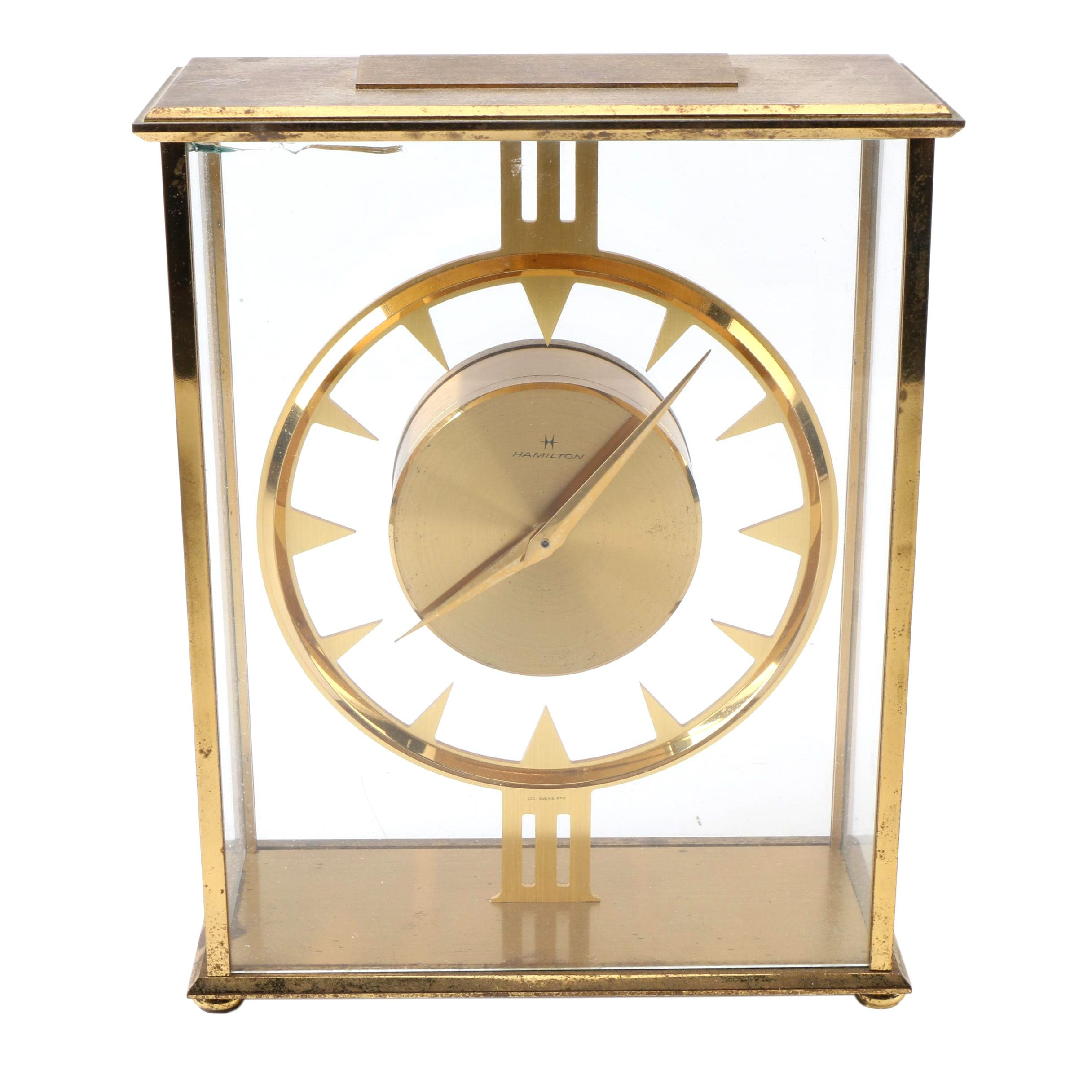 Hamilton Brass Quartz Desk Clock