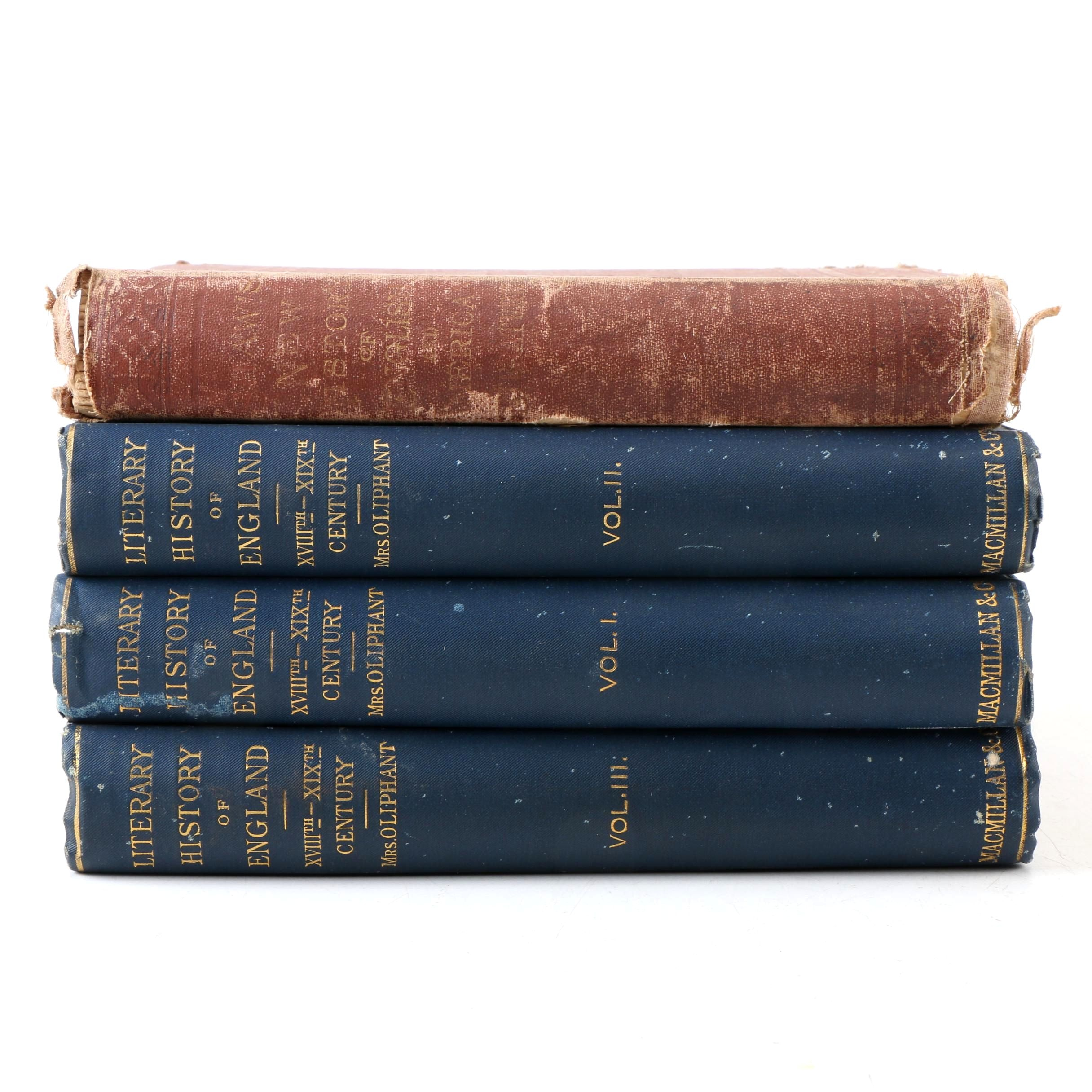 1876 and 1889 Literary History Books
