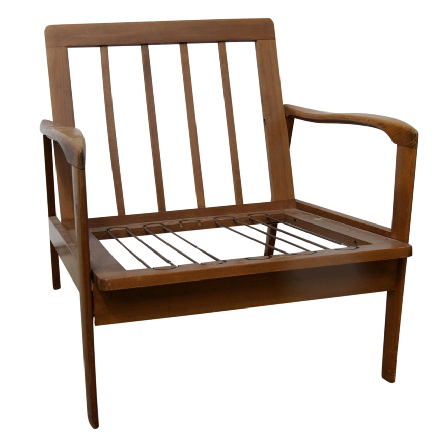 Mid Century Modern Armchair Frame Ebth