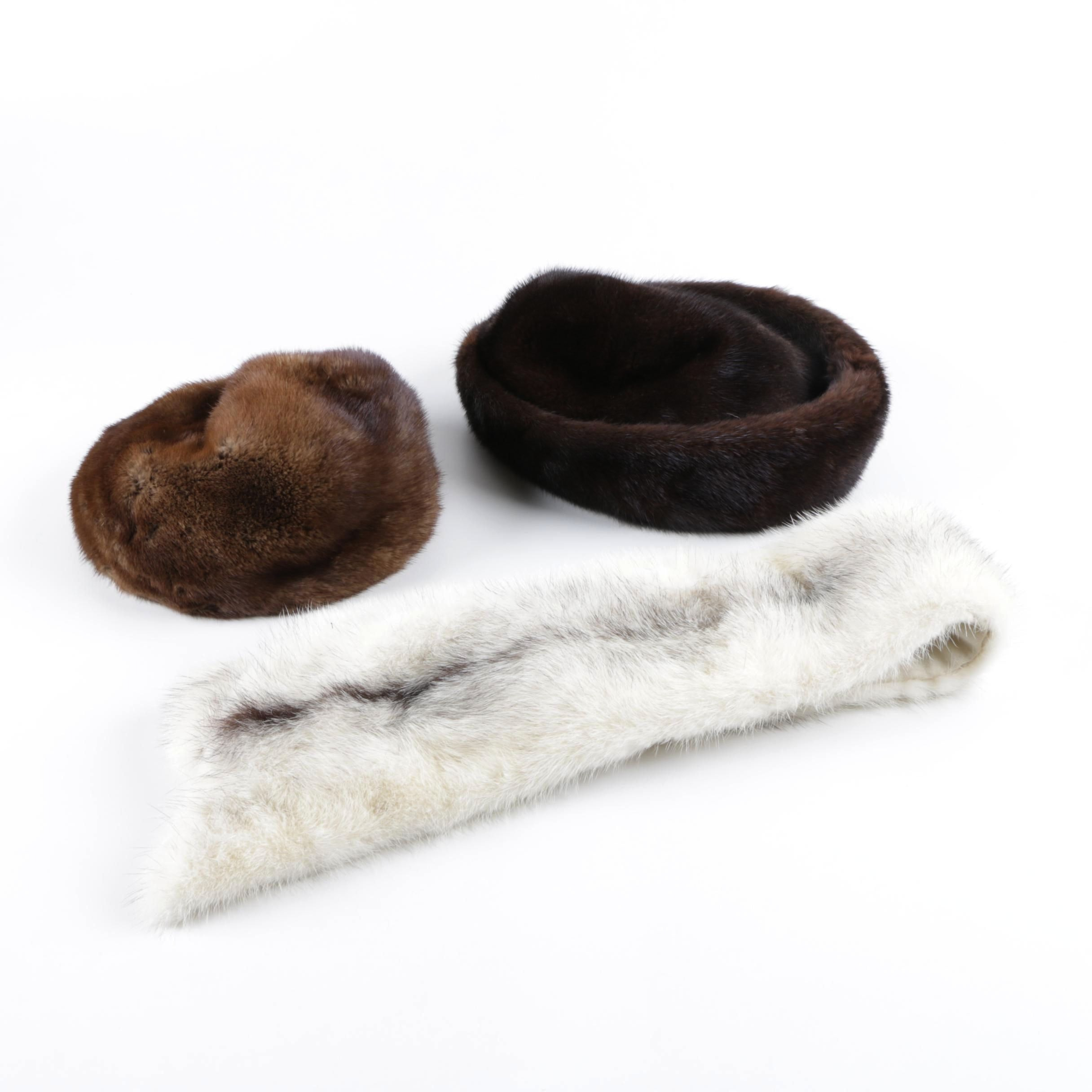 Vintage Fur Hats and Miss Alice for Lord & Taylor Mink Fur Collar
