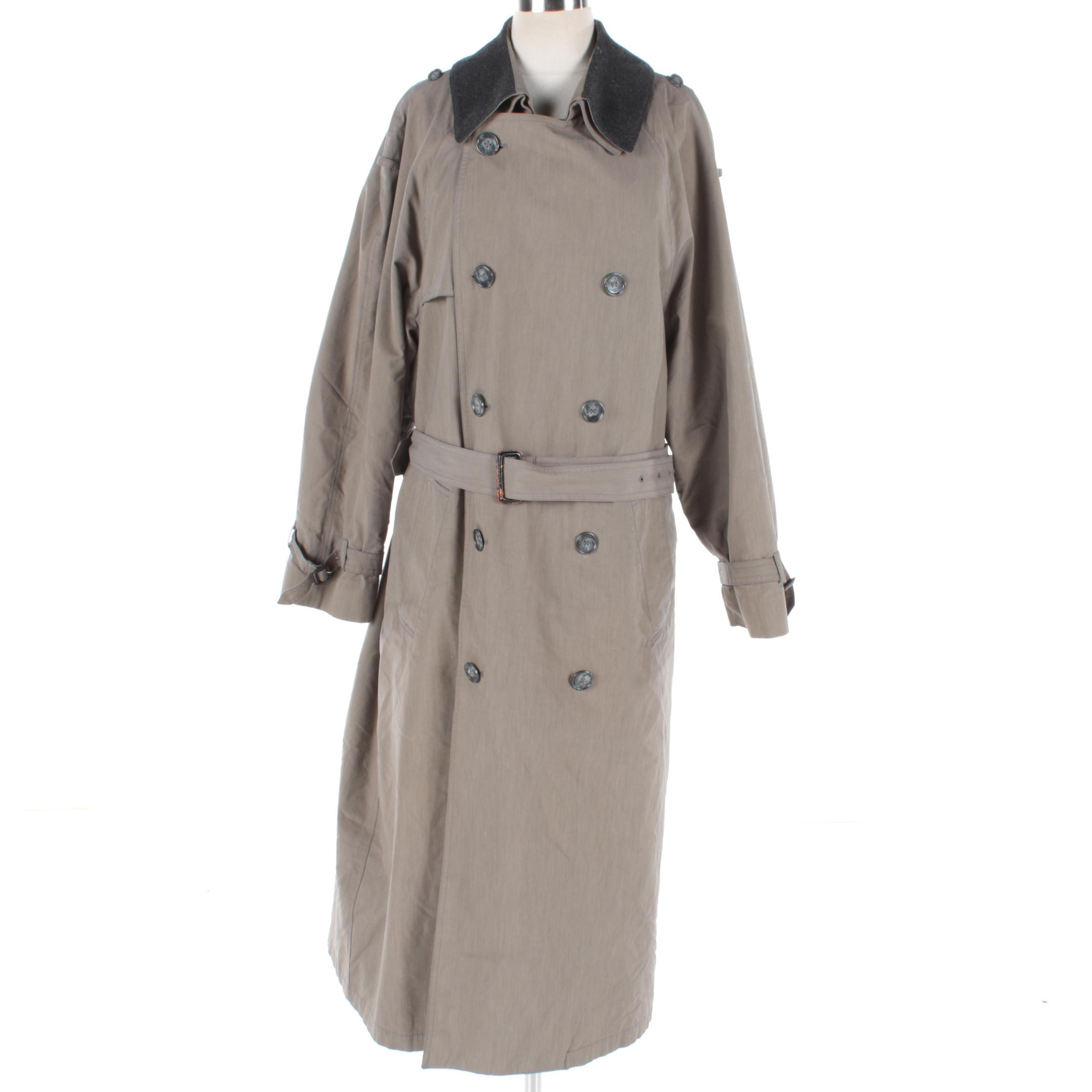 Men's London Fog Double-Breasted Trench Coat with Lining