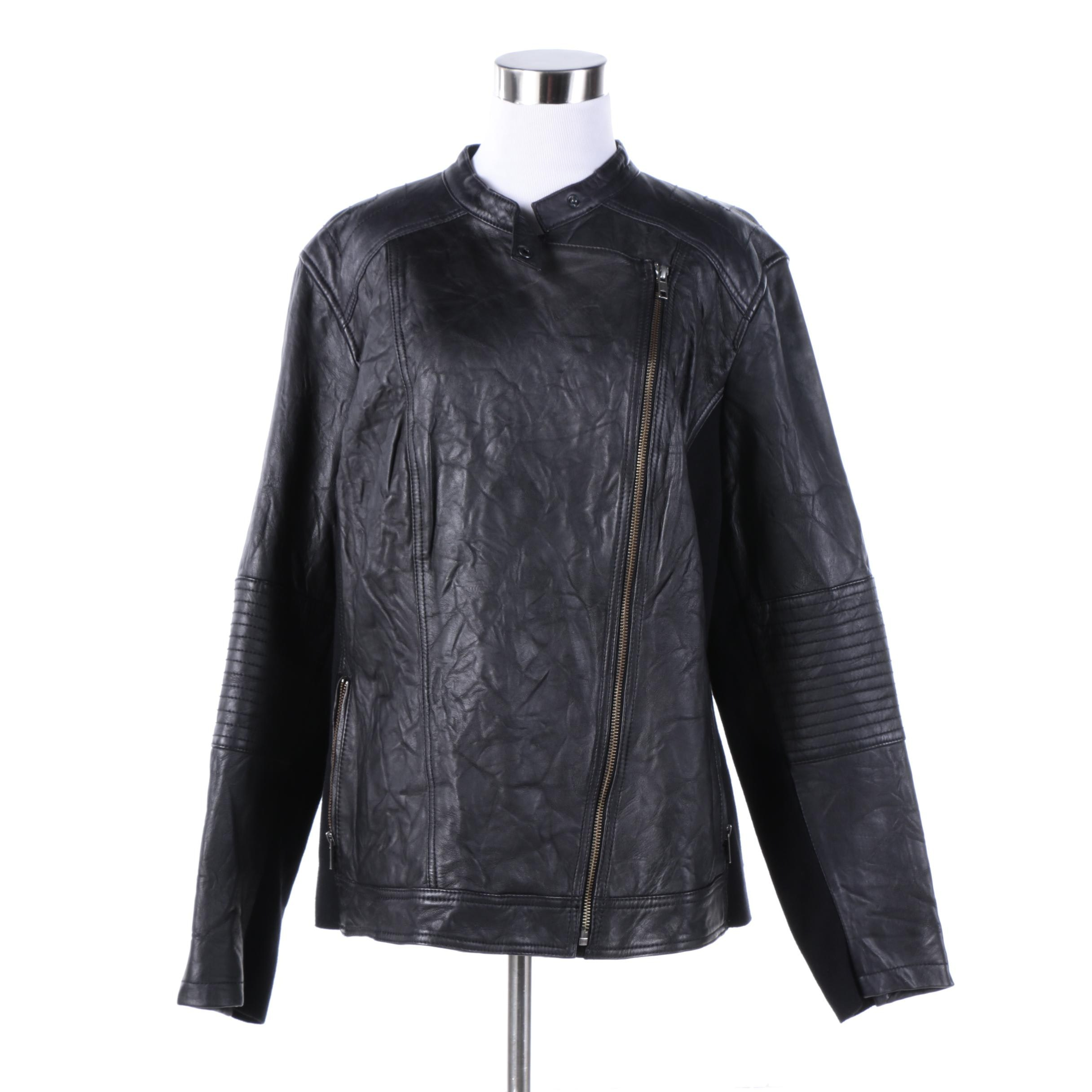 Women's Caslon Black Leather Jacket