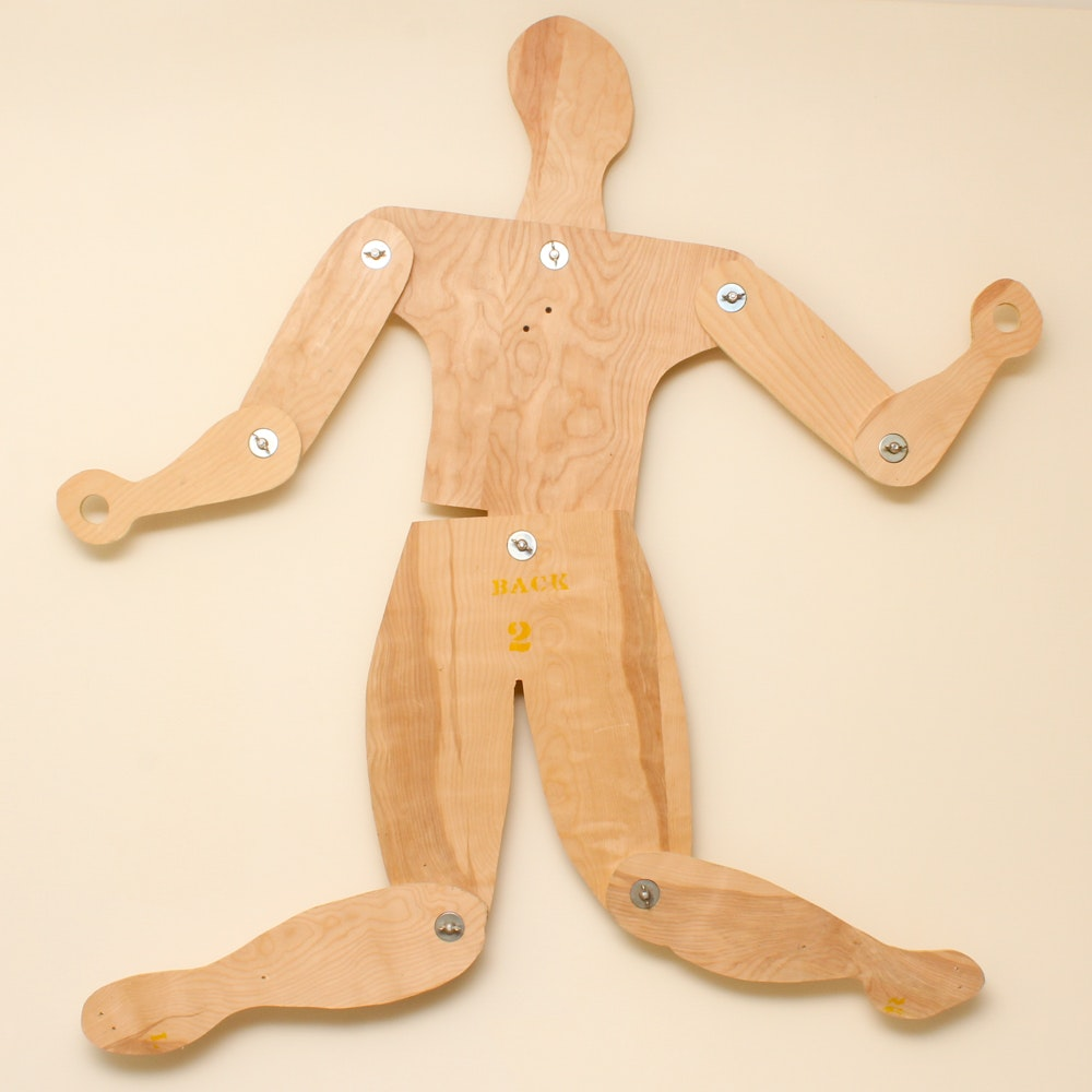 Jointed Wooden Wall Art Figure