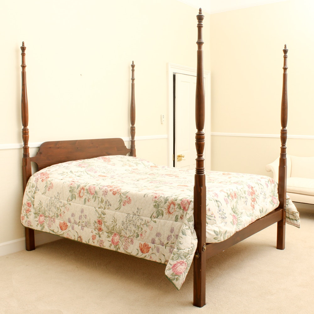 Pine Four Poster Queen Size Bed