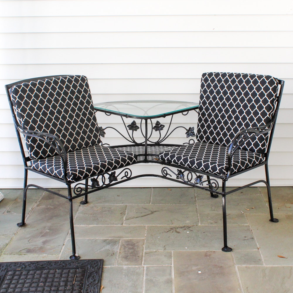 Patio Corner Bench With Built In Table ...
