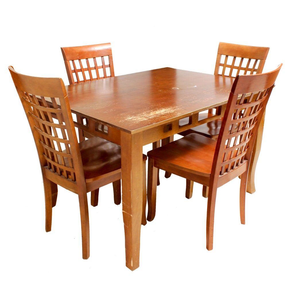 Contemporary Style Dining Table with Side Chairs