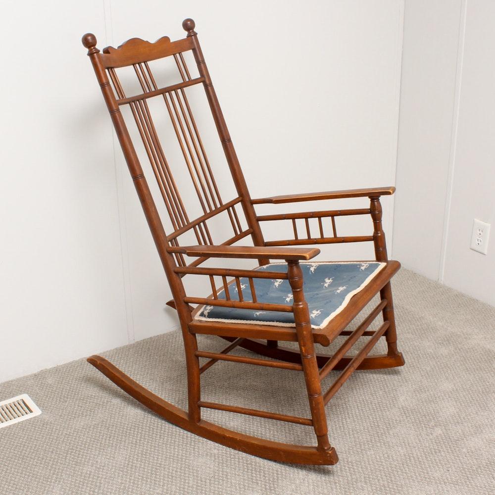 Vintage Spindle-Back Rocking Chair