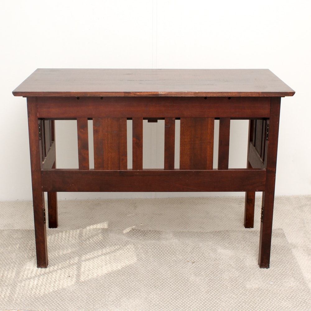 Mahogany Finished Folding Desk