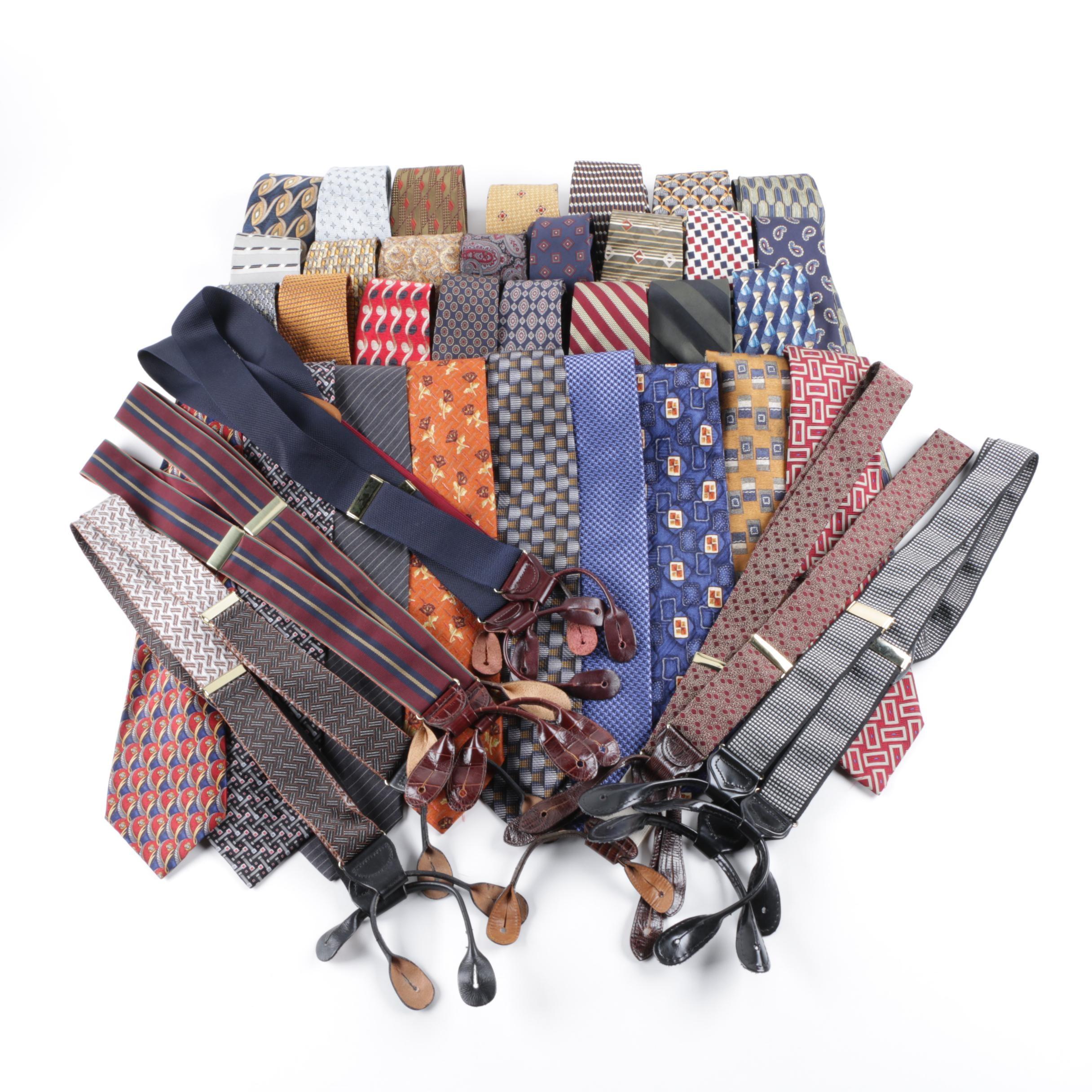 Men's Neckties and Suspenders