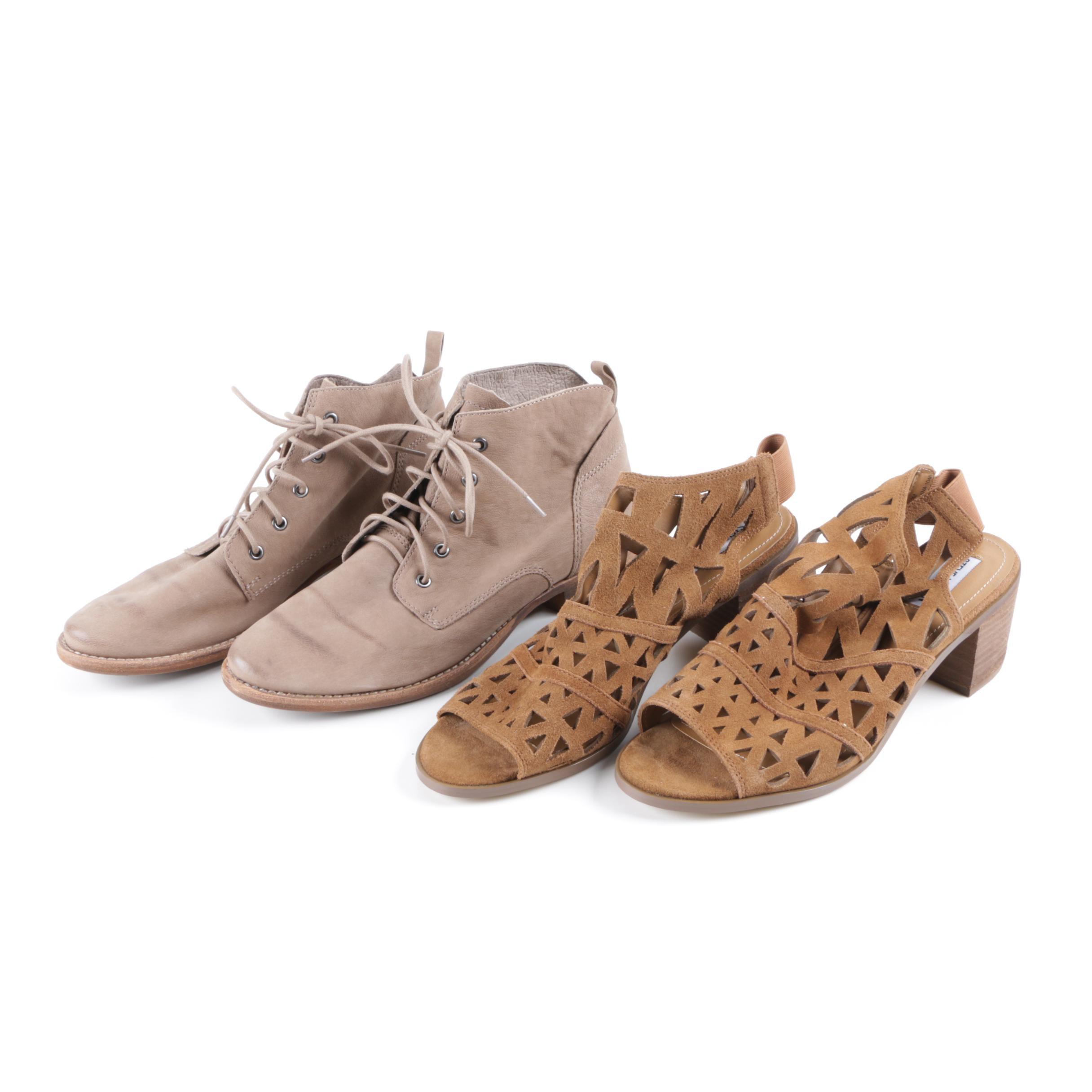 Sam Edelman Booties and Steve Madden Estee Leather Upper Heeled Sandals