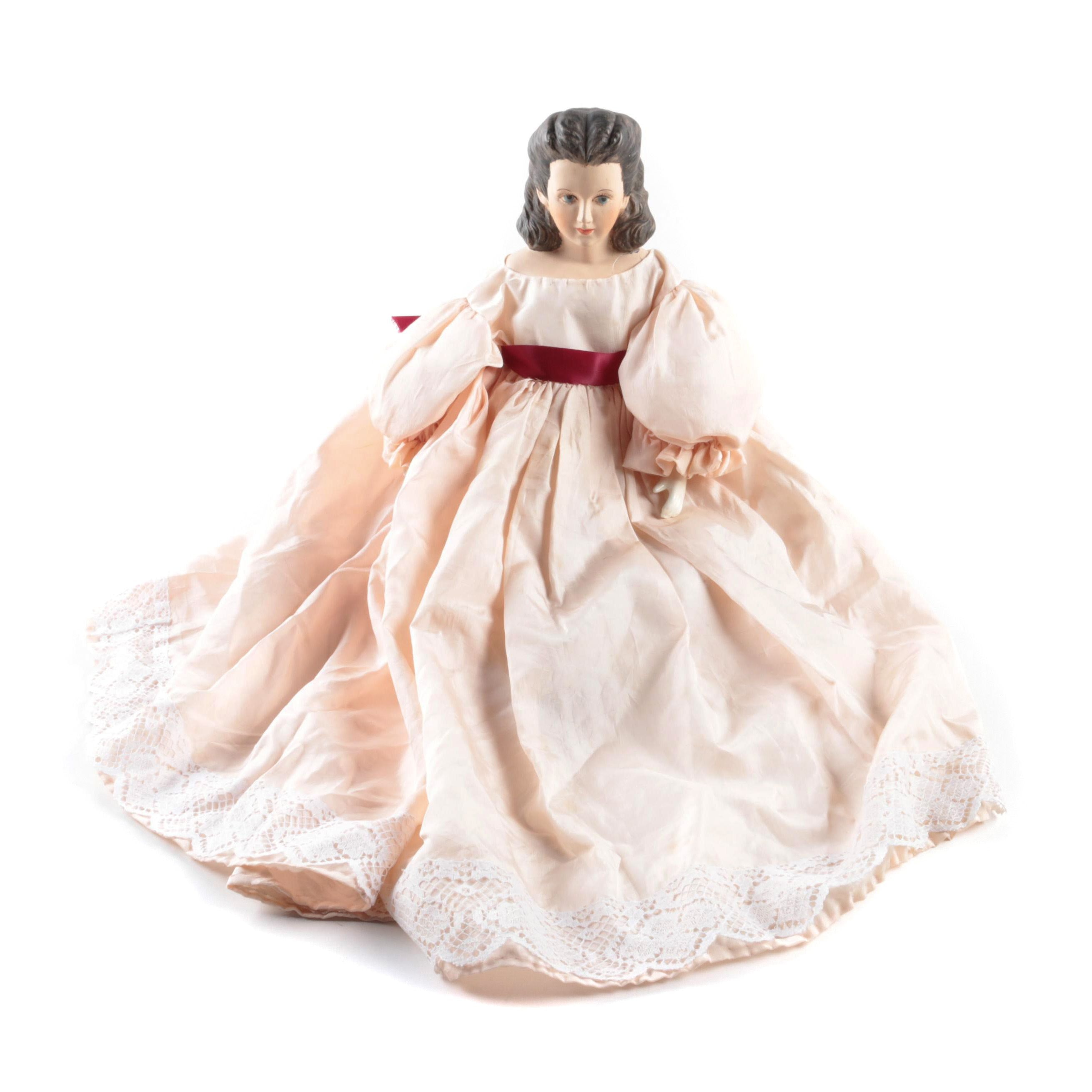 """Vintage Hand Crafted """"Scarlett O'Hara"""" Style China Doll"""