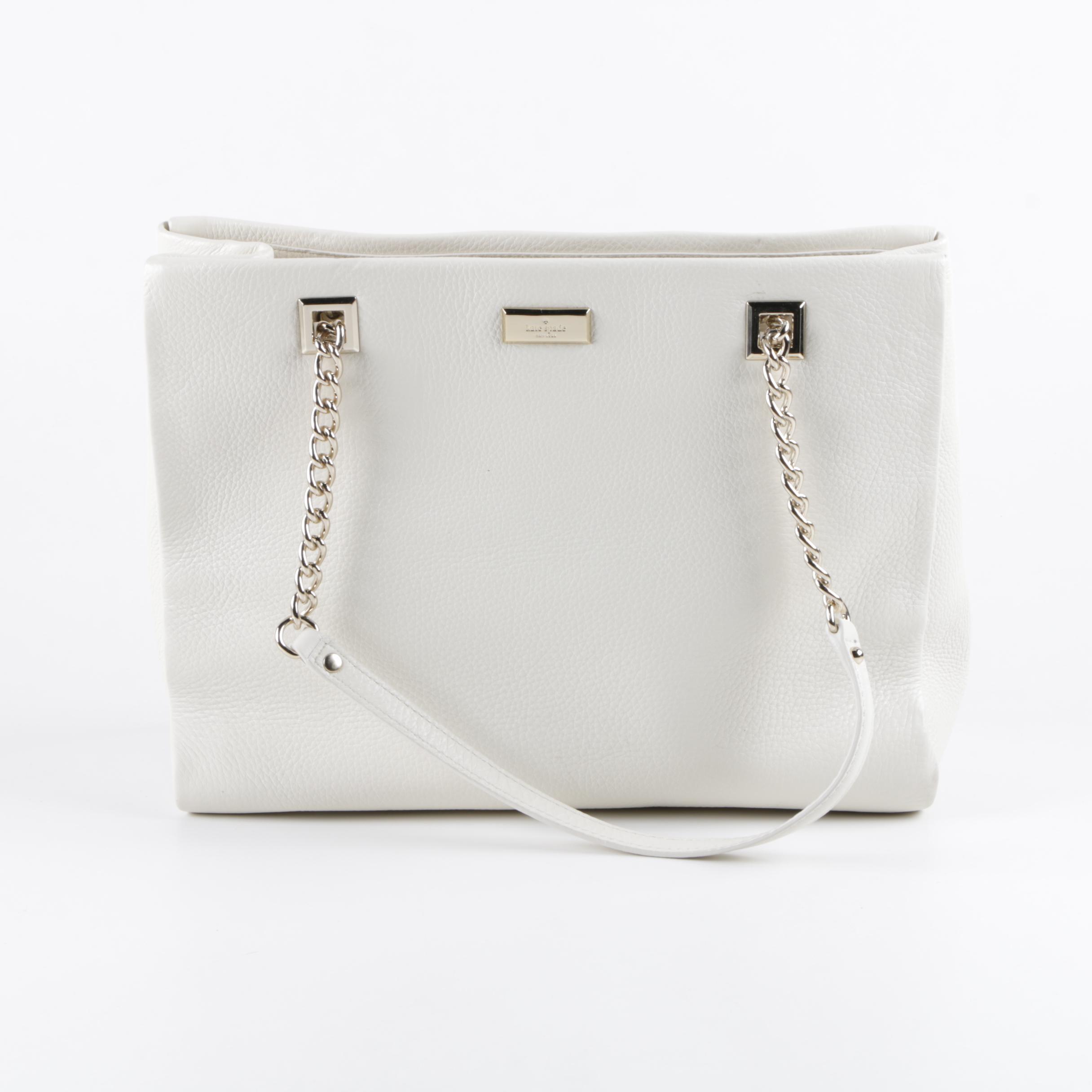 Kate Spade New York White Leather Handbag