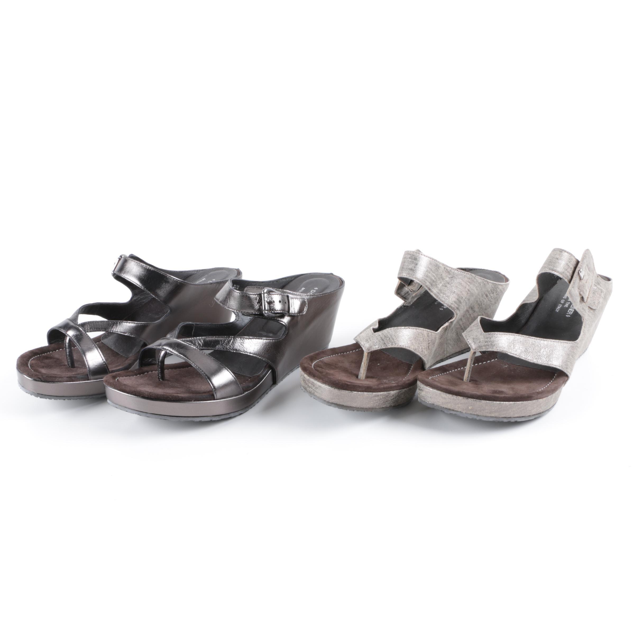 Women's Donald J. Pliner Metallic Wedge Sandals