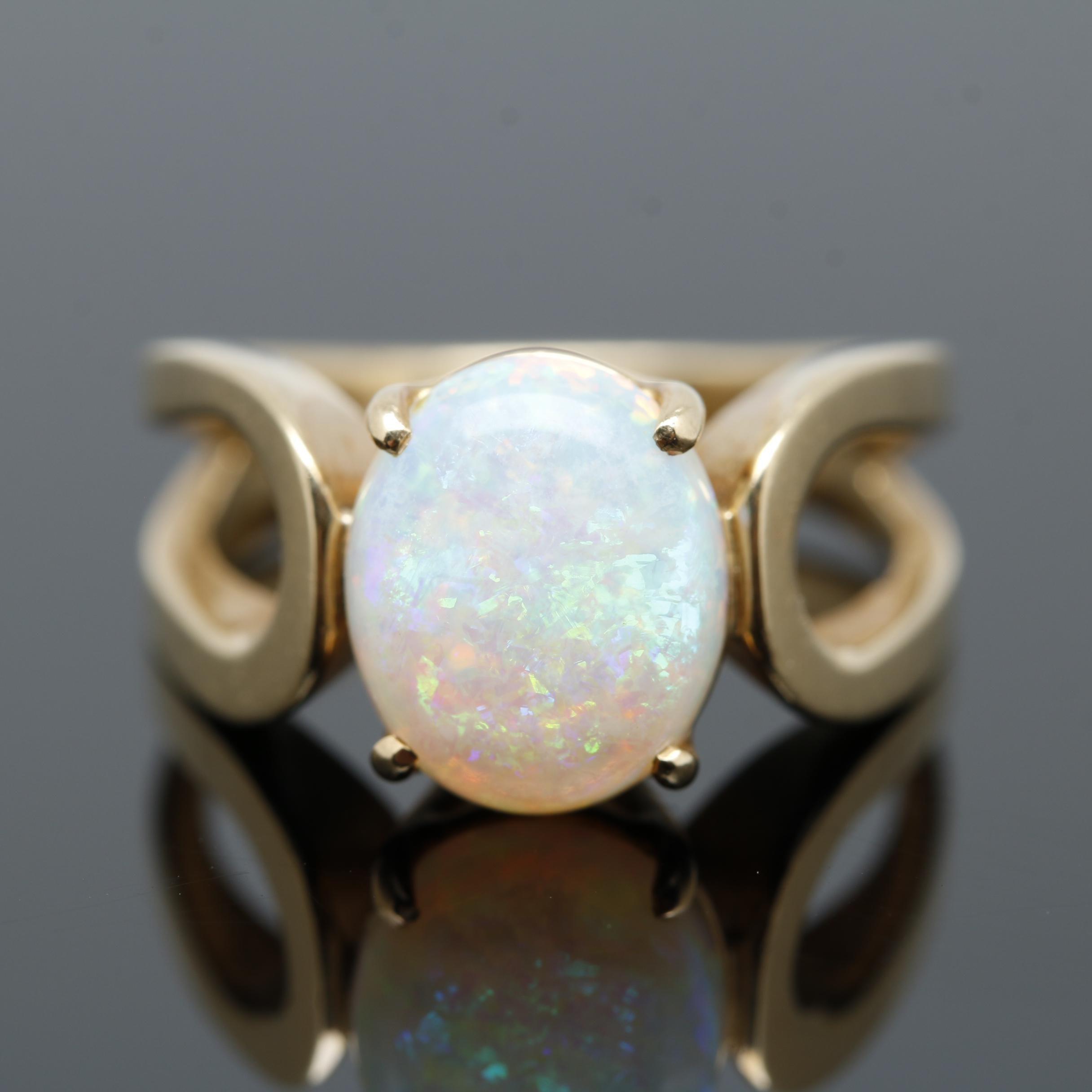 14K Yellow Gold Opal Ring