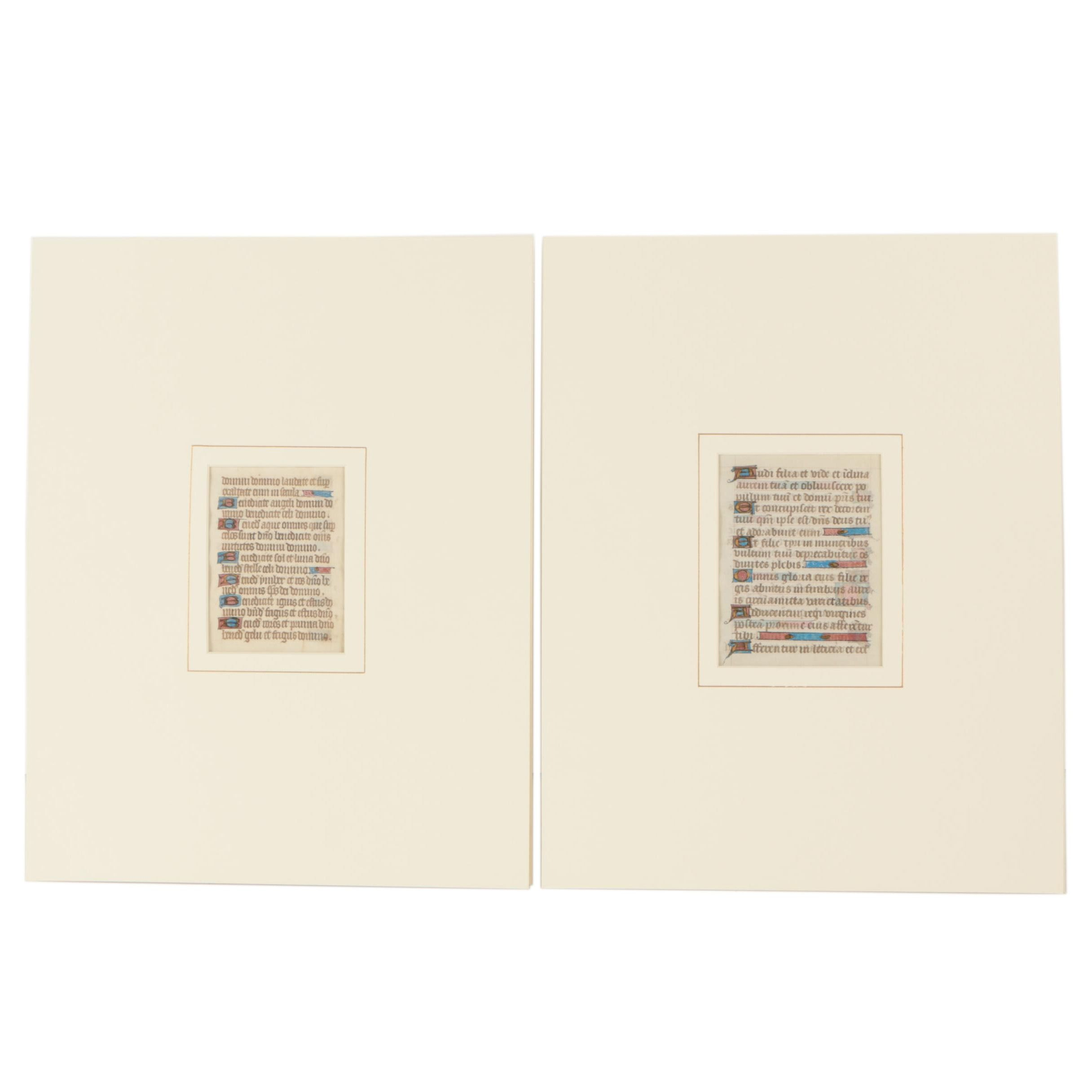Antique Illuminated Manuscript Pages